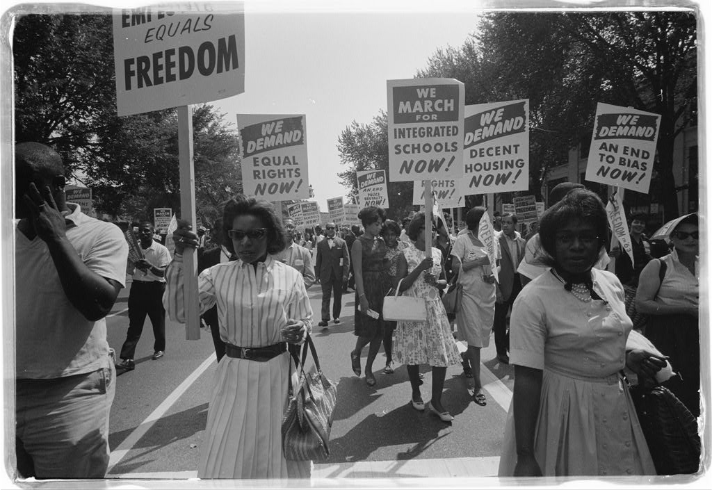 Protesters during the March on Washington August 28, 1963