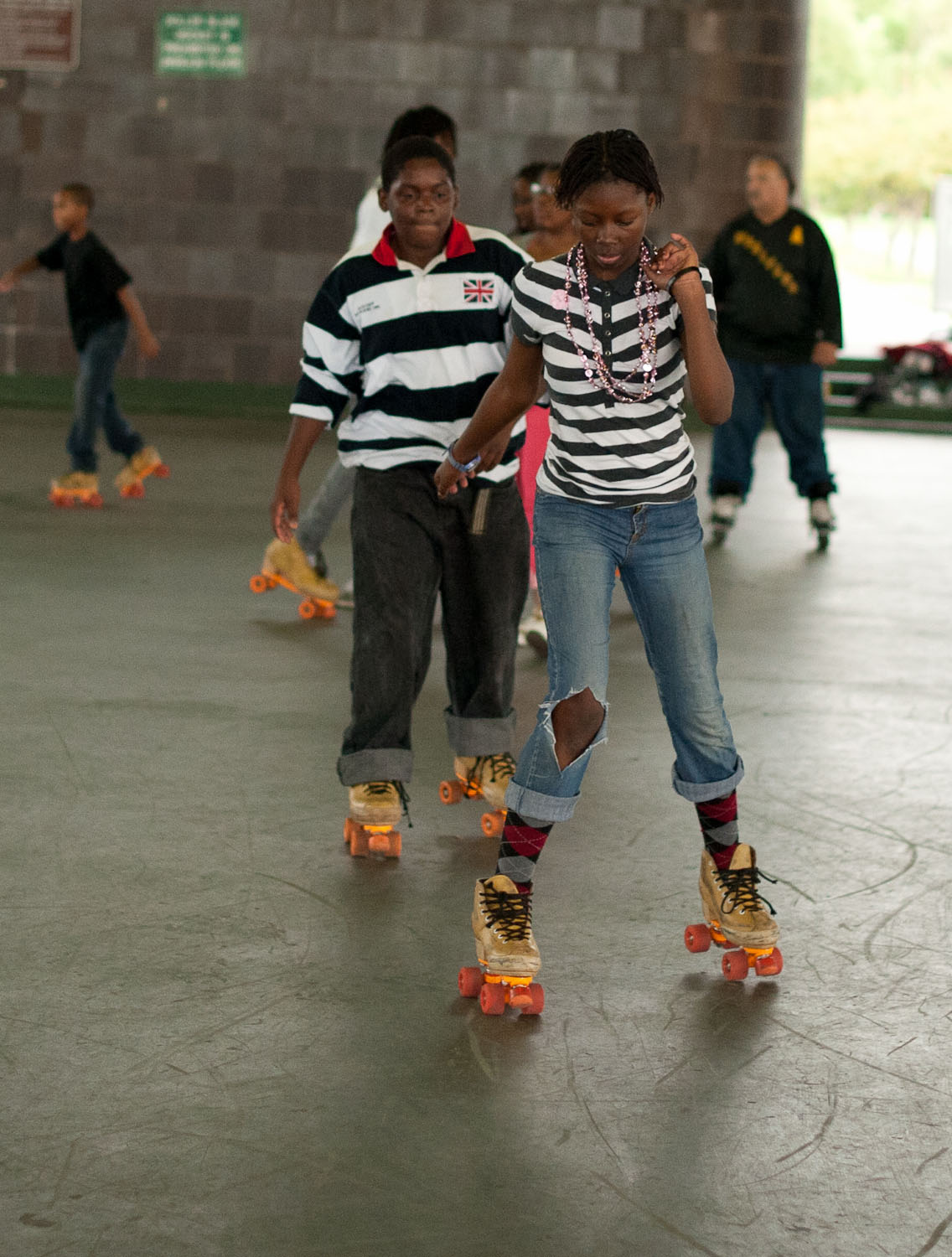 DC roller skaters in Anacostia Park Skating Rink. Photographed by Marvel Gay 2012