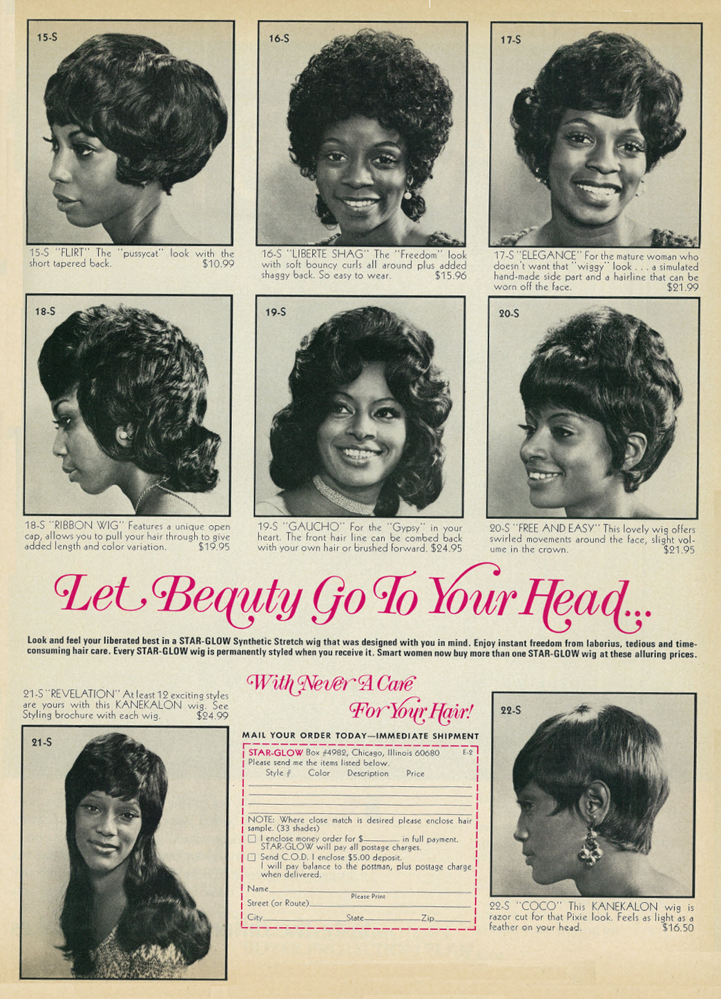 Published black hair beauty styles by Ebony Magazine March 1972 - Vol.27, No.5.