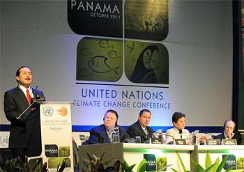 PANAMA. Det norsk-australske forslaget til ny klimaavtale ble ikke seriøst diskutert på det siste forhandlingsmøtet før Durban, som ble holdt i Panama i begynnelsen av oktober. Foto: IISD