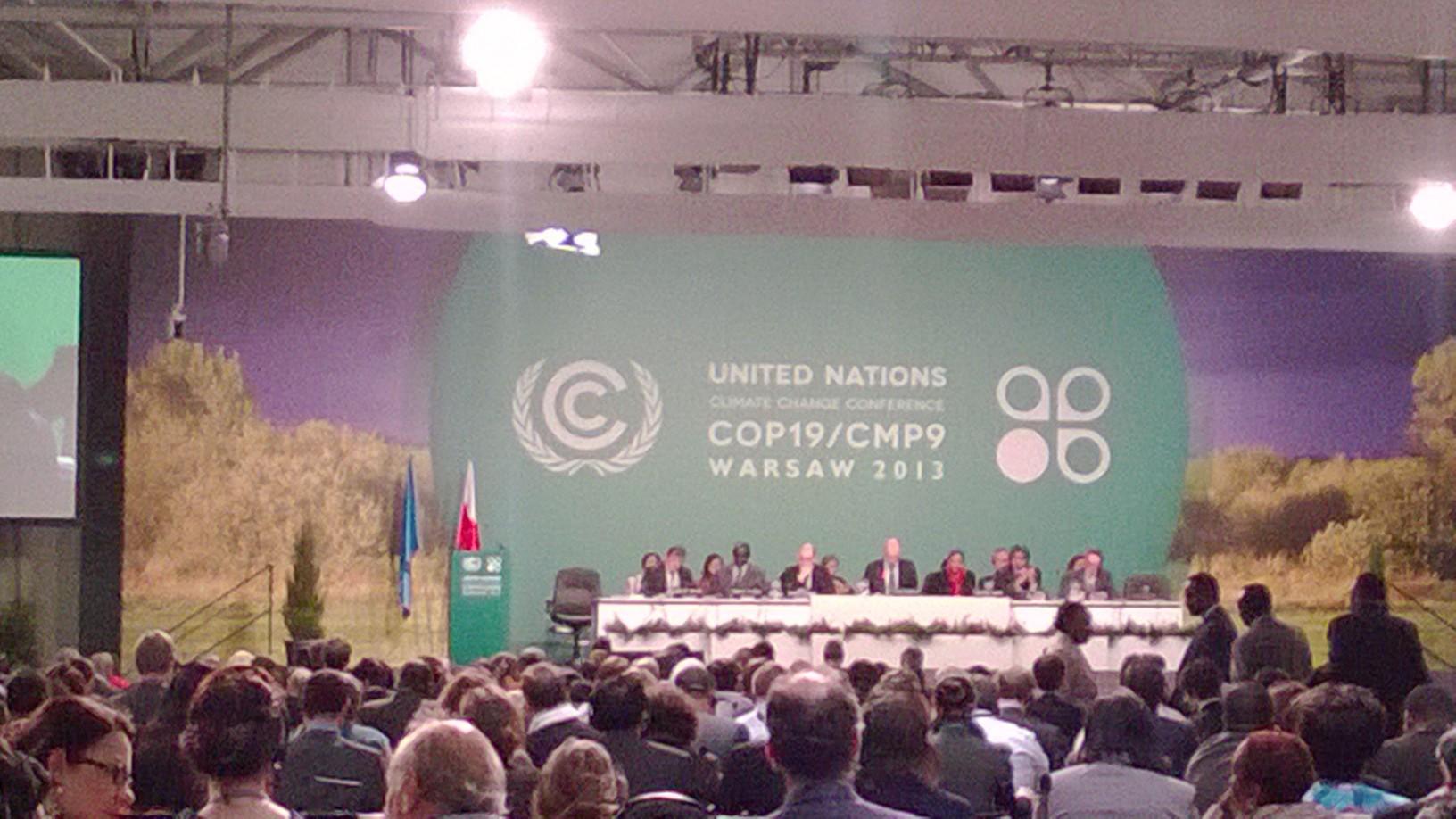 Klimatoppmøtet COP19 i Warszawa november 2013. Foto:Tiina Ruohonen.