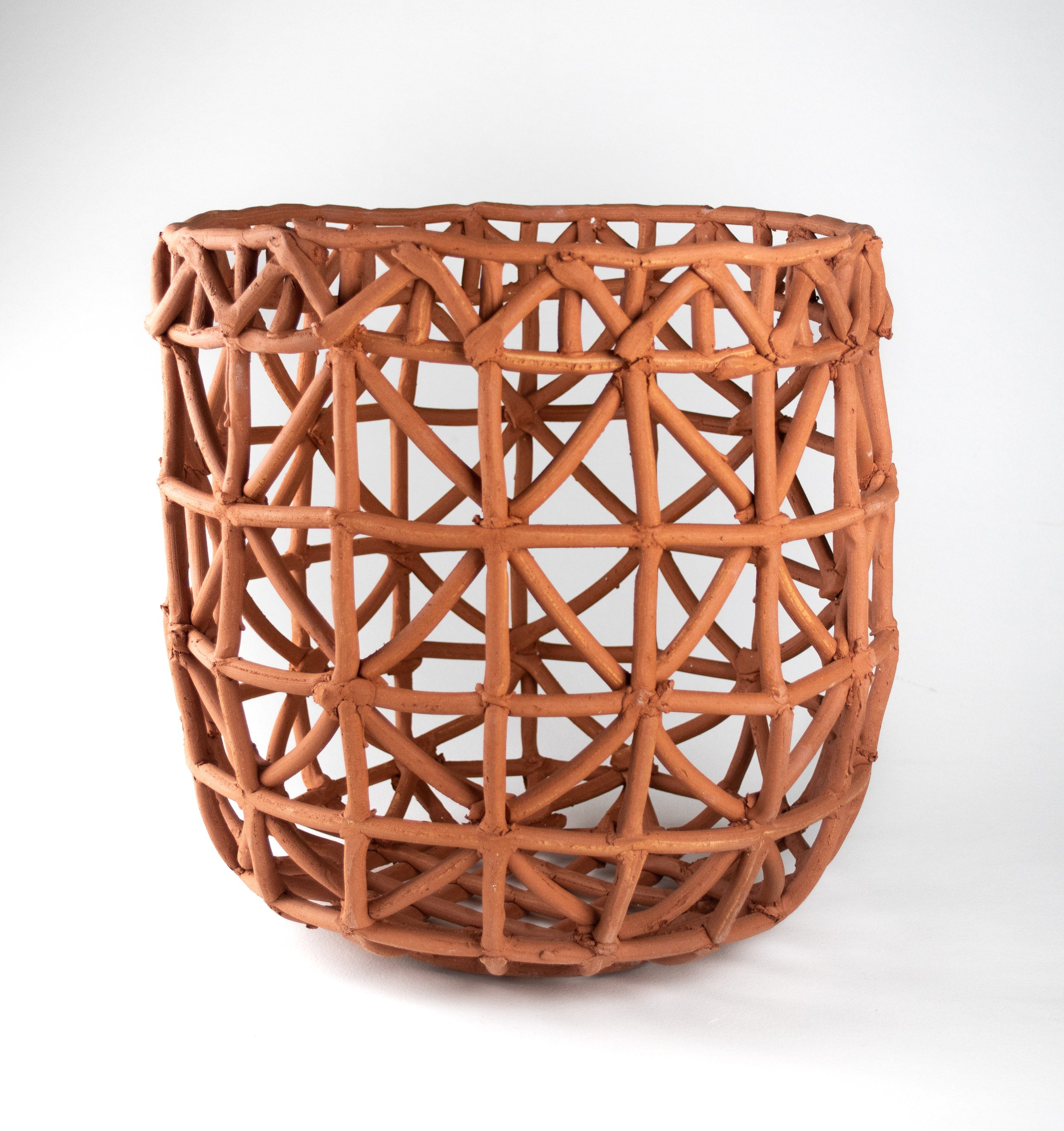 Basket for Storing Dried Rock Trout , 15x22x15, Earthenware, 2019