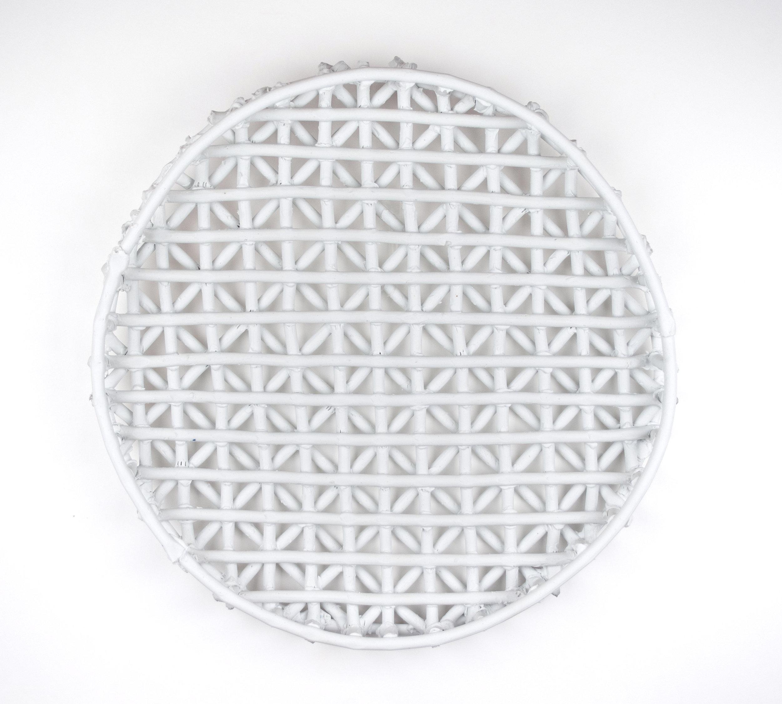 Charcoal Sieve , 14x14x2, Porcelain, 2019