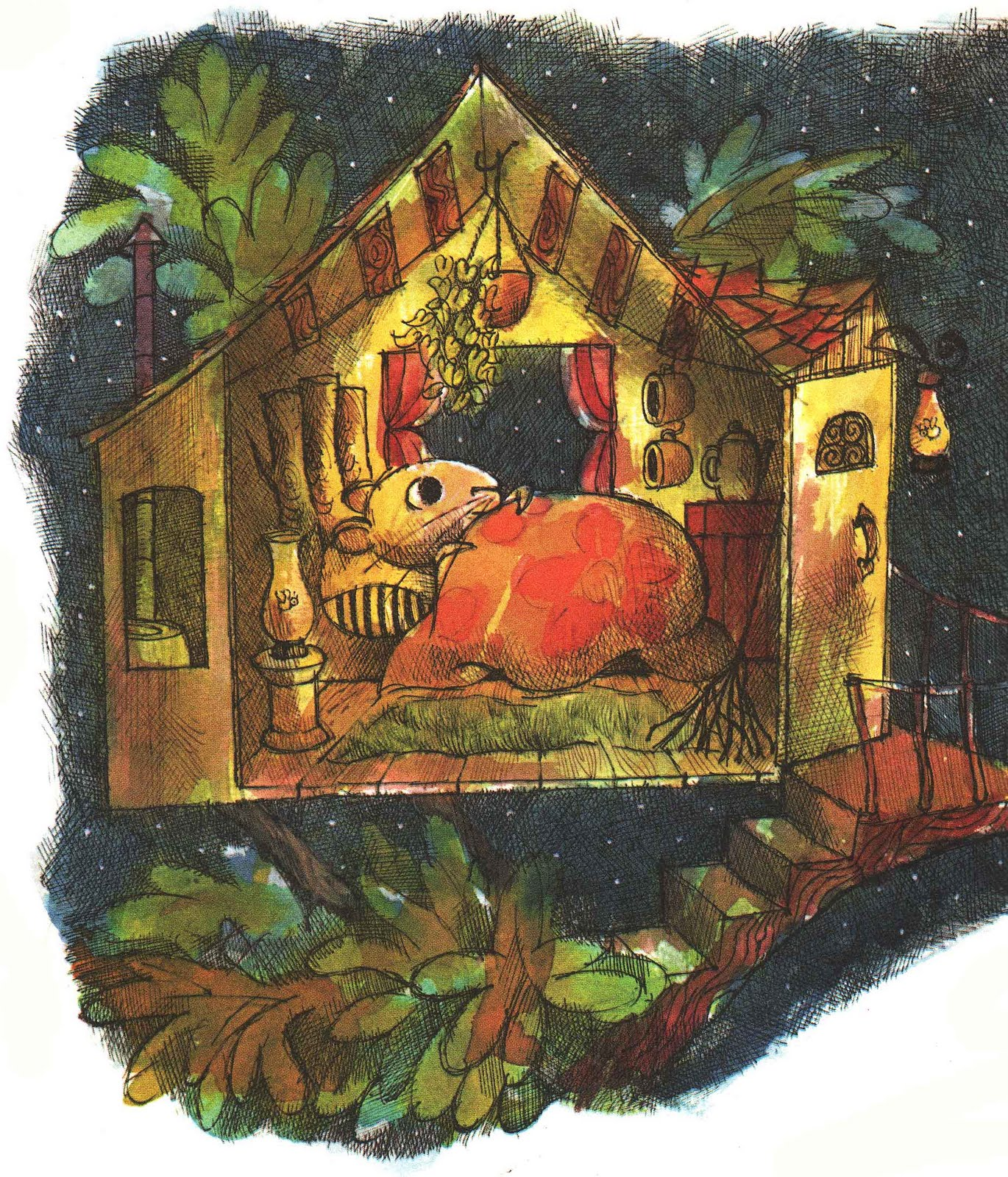 Miss Suzy, one my favorite children's book characters, being hella liminal