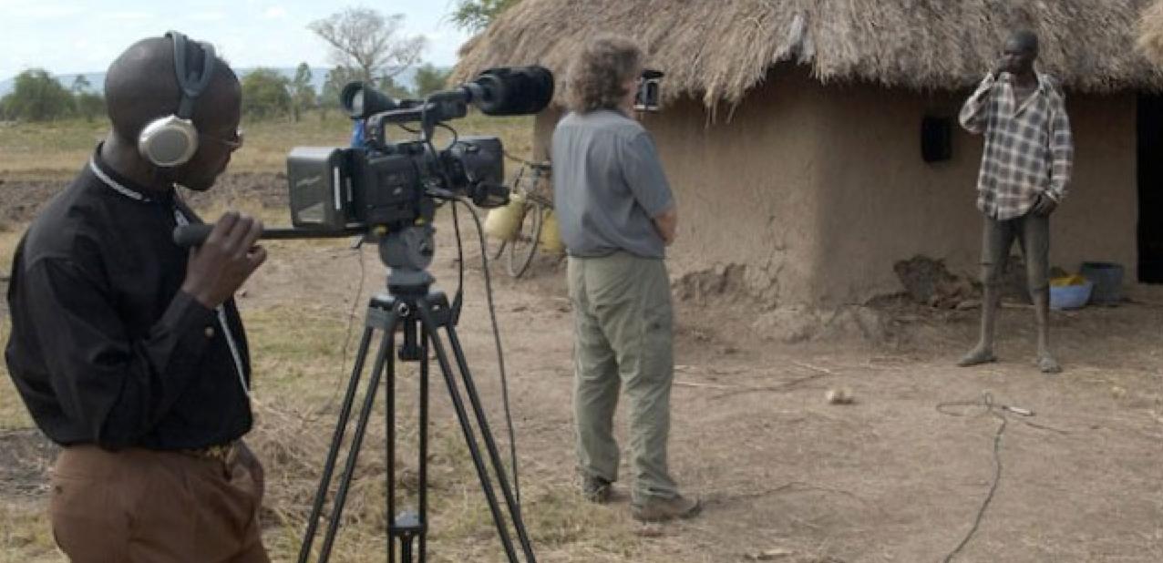 Len Morris interviewing Joseph Onyango Siri in Kenya (Wilfred Ogutu is shooting)