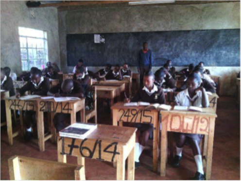 Mary Wambui in school studying © ANPPCAN