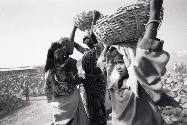 INDIA: GRAVEL QUARRIES - Children are held and forced to work for years at a time without pay. In India, work of this kind is against the law and yet it continues, because of the difficulties involved in raid and rescue. ©Robin Romano