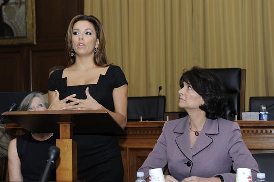 Eva Longoria speaks in support of the CARE Act in Washington © https://roybal-allard.house.gov/news/documentsingle.aspx?DocumentID=206669