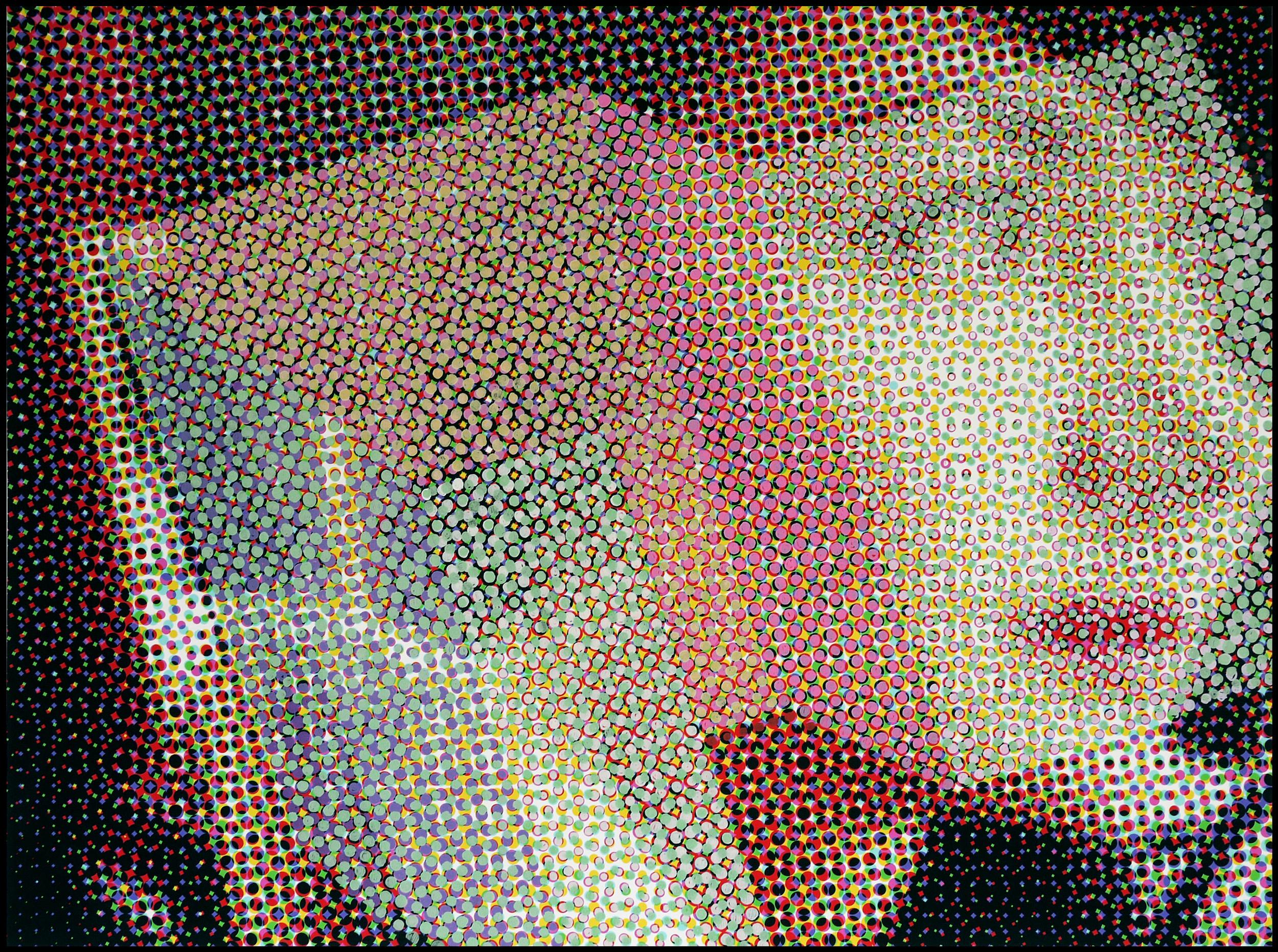"""""""Oh! My love"""" #5 2014 Acrylique sur papier imprimé 110cmx130cm"""