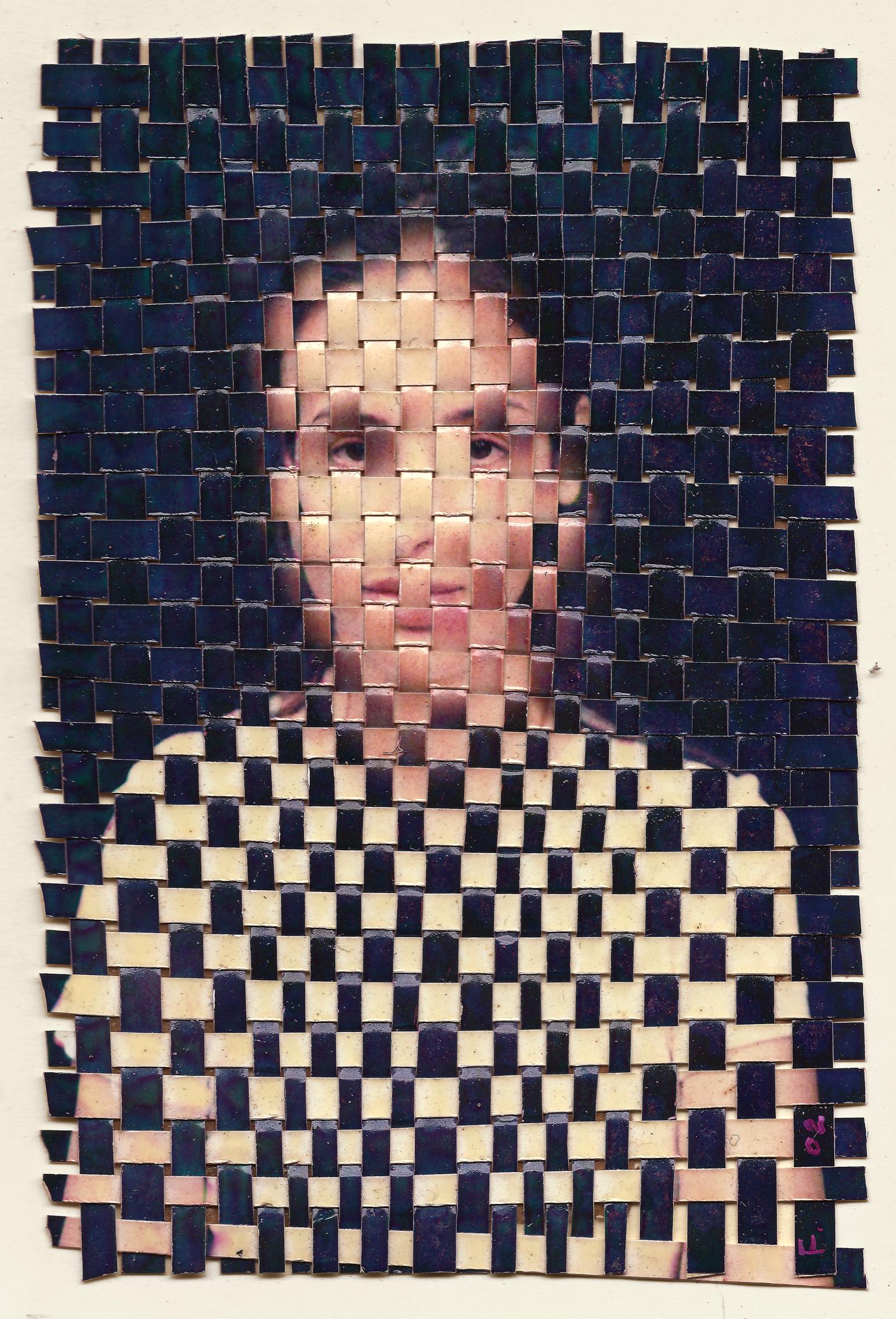 """""""La joconde"""" 2002 Photos tressées 16cmx10cm"""