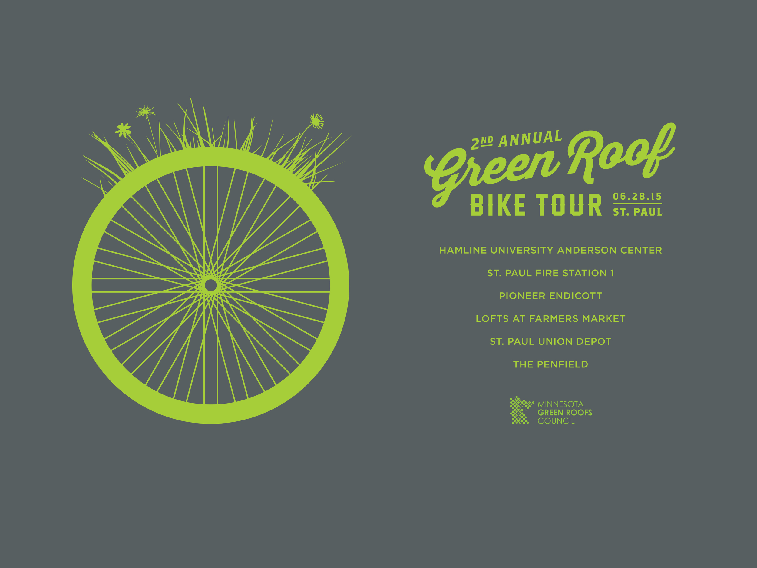 MN Green Roof Bike Tour Tshirts