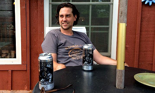 Photo: Paul Bissett relaxes with SSL Partner Alchemist Brewary's Heady Topper