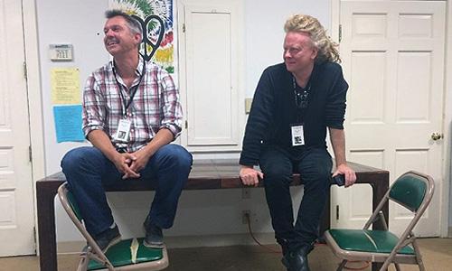 Photo: Chris Kratt, David Pope during in-conversation interview