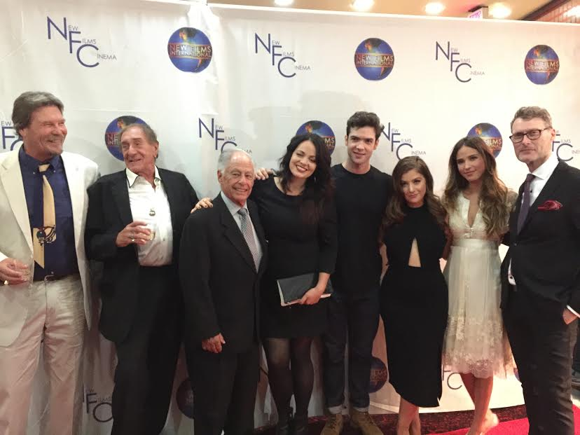 Beverly Hills premier, (I am center with some of my cast, including from left to right Tom Conlon, Bob Wells, Ron Zane, Ethan Peck, Kelsey Asbille, Mimi Gianopulos, Jonathan Mellor).