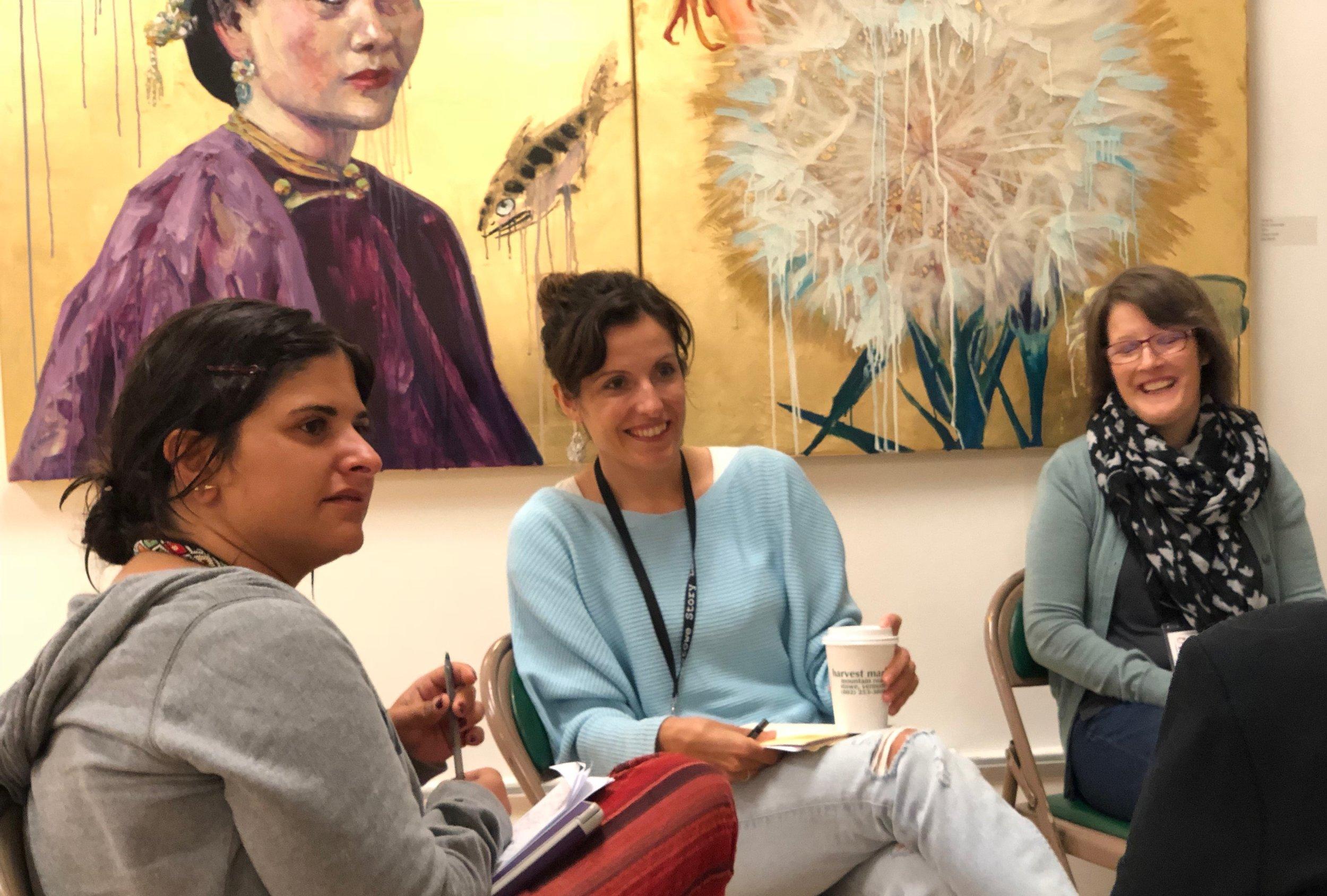 Eszter Angyalosy mentors at Fall 2018 Narrative Lab