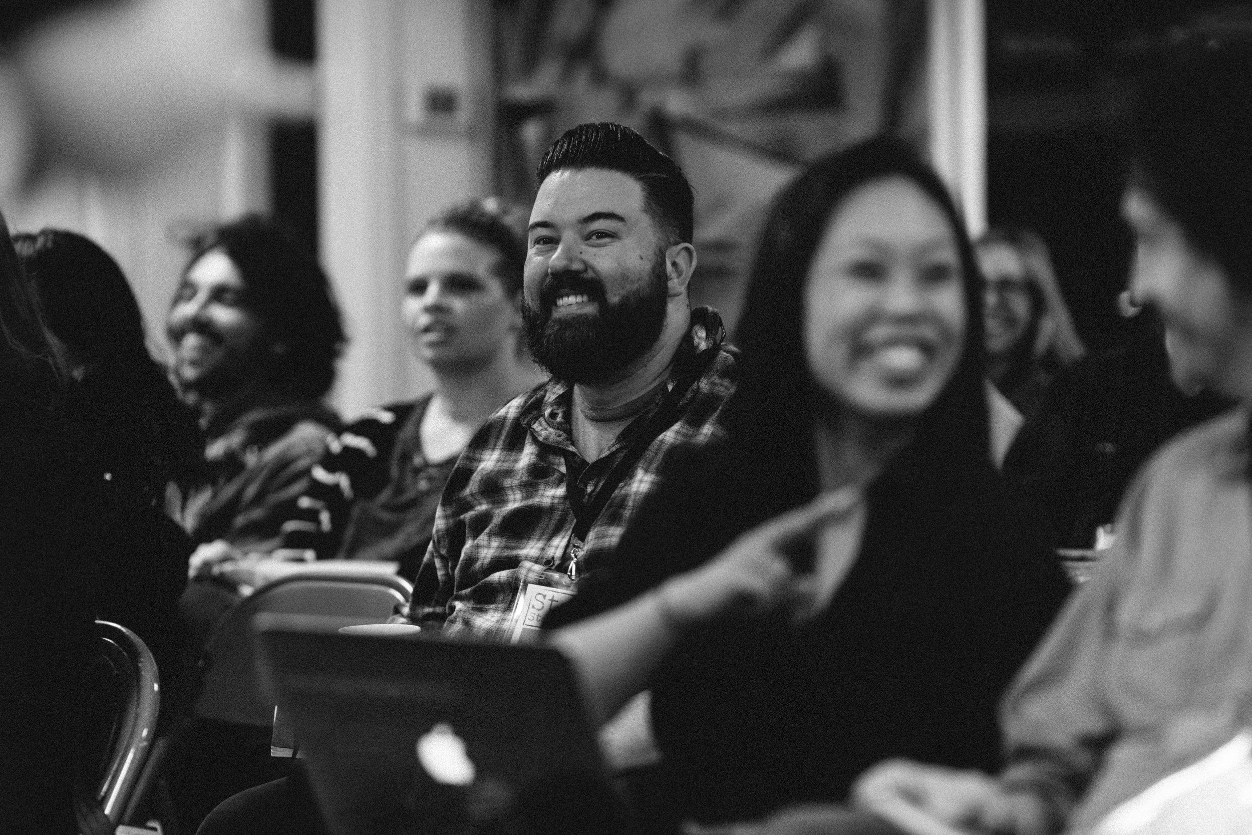 Screen Scotland Lab Participant Shaun Hughes at Fall 2018 Stowe Story Lab