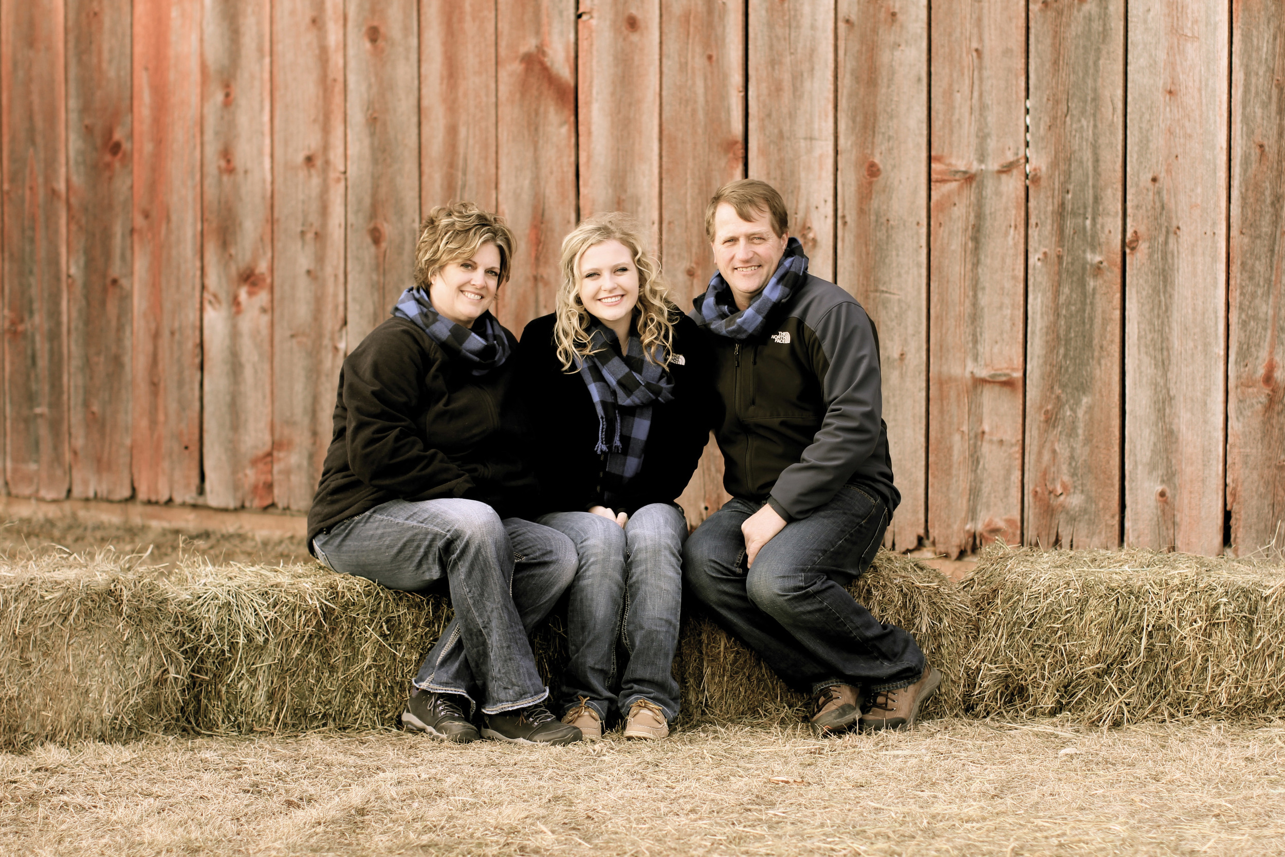 Mark and Amy Beisbier with their daughter Kori  To contact Badger Pork, LLC, call Mark Beisbier at  (608) 393-9862