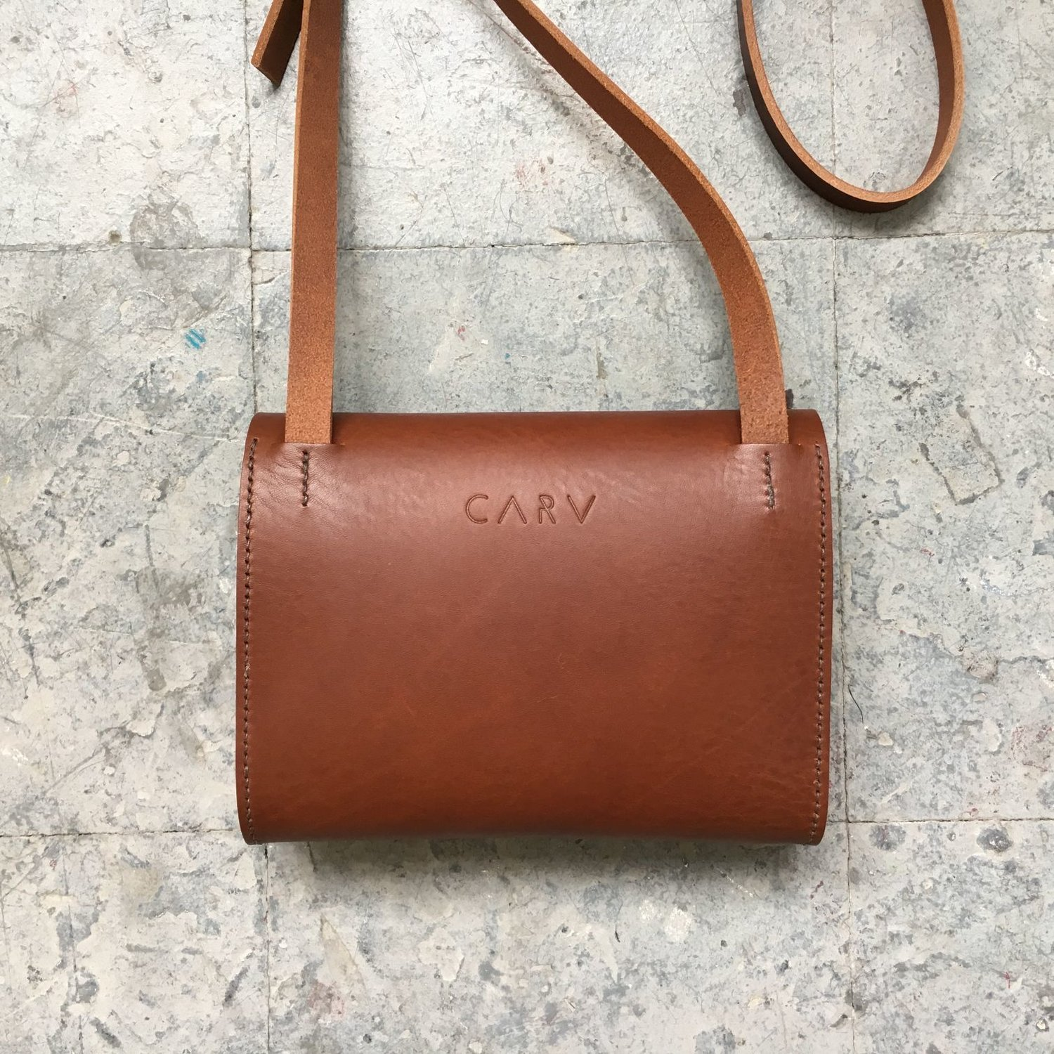 hot-selling genuine official photos top-rated official Brown Leather Crossbody Bag - Pioneer Mini — CARV