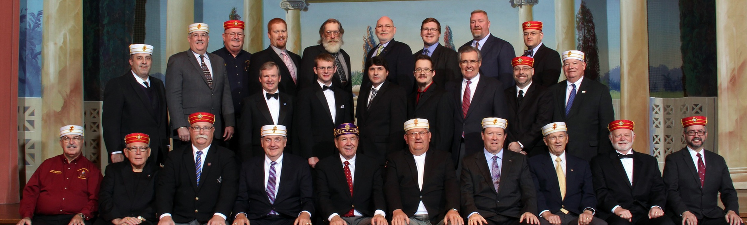 Scottish Rite Masons and the new brethren of the Larry J. Zwart, 33° Memorial Class, November, 2015