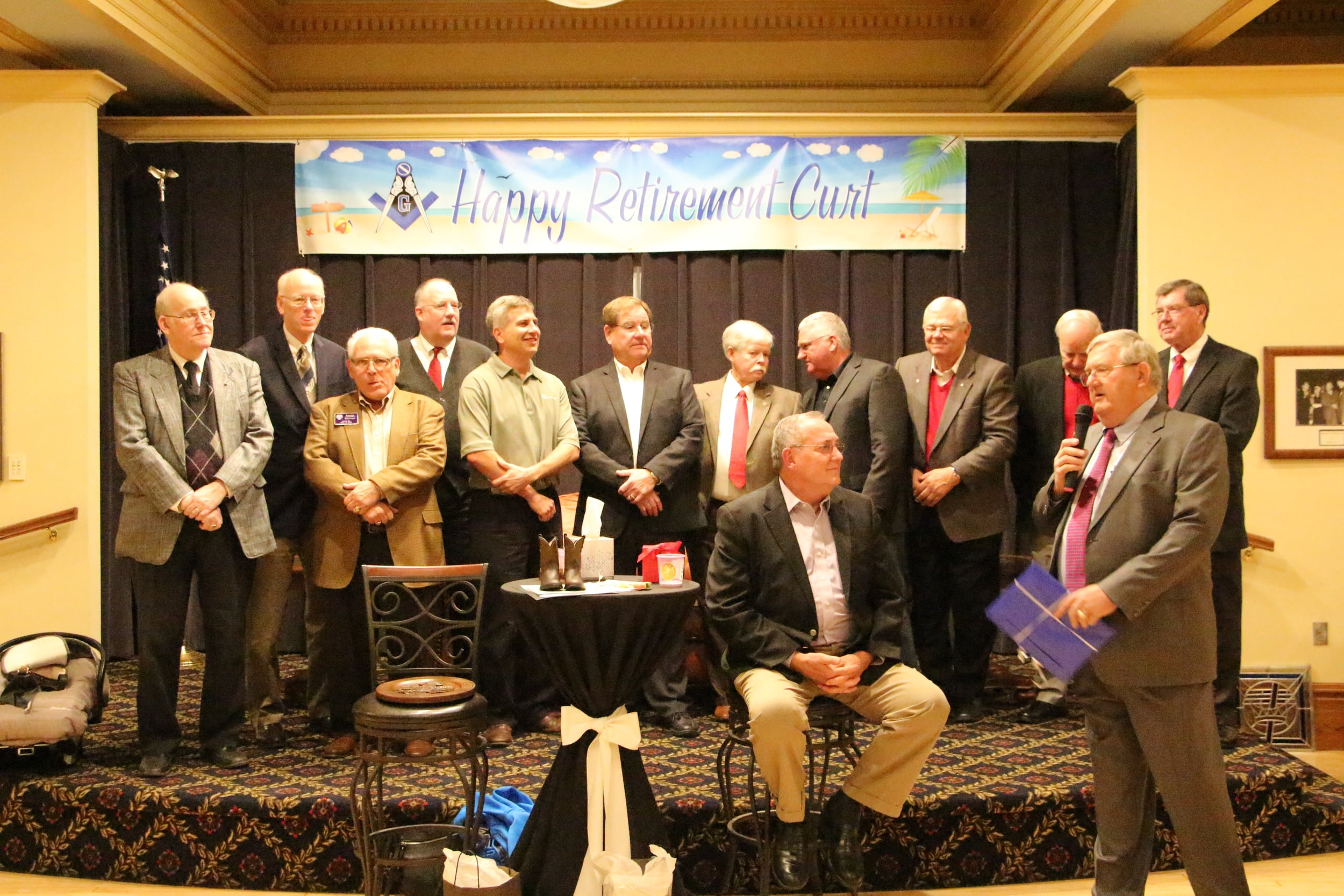 Cathedral Board presenting Curt and Carol an Alaskan cruise