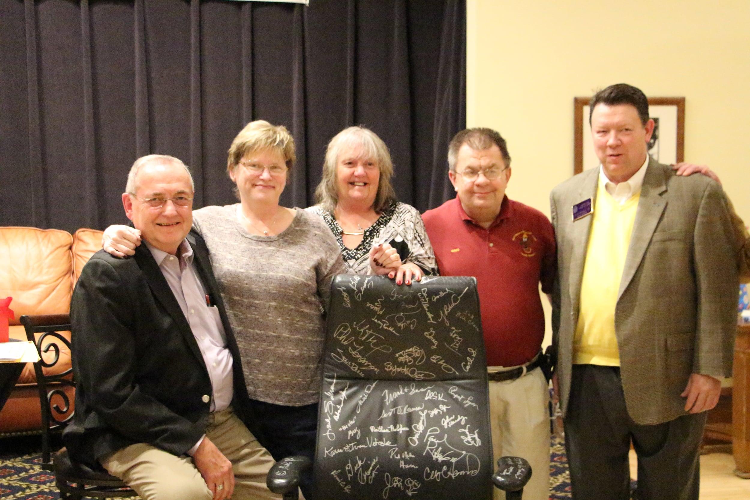 Curt, Cathy, Marcia, Greg, and John