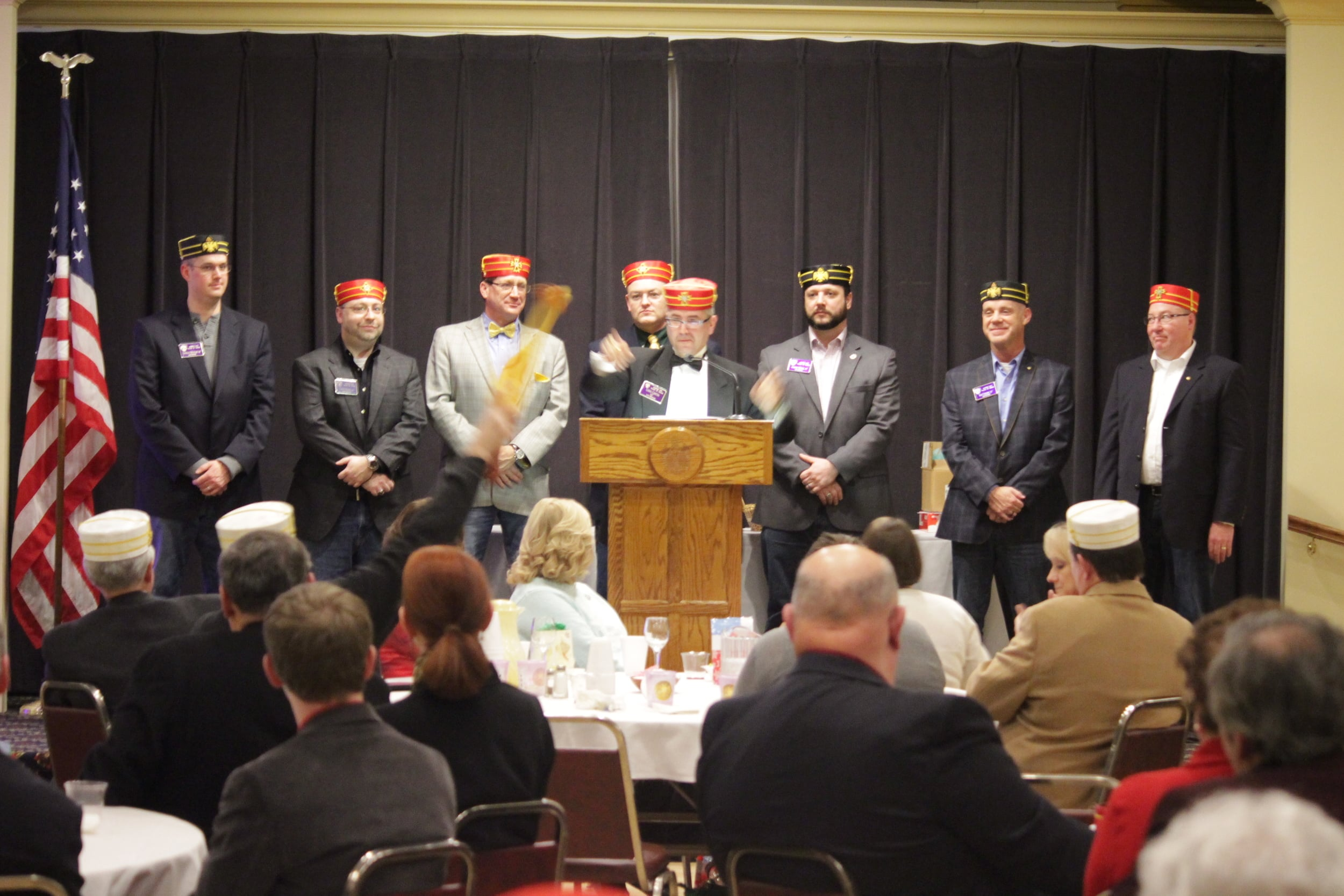The 2015 Lodge of Perfection officers, our emcees for the evening.