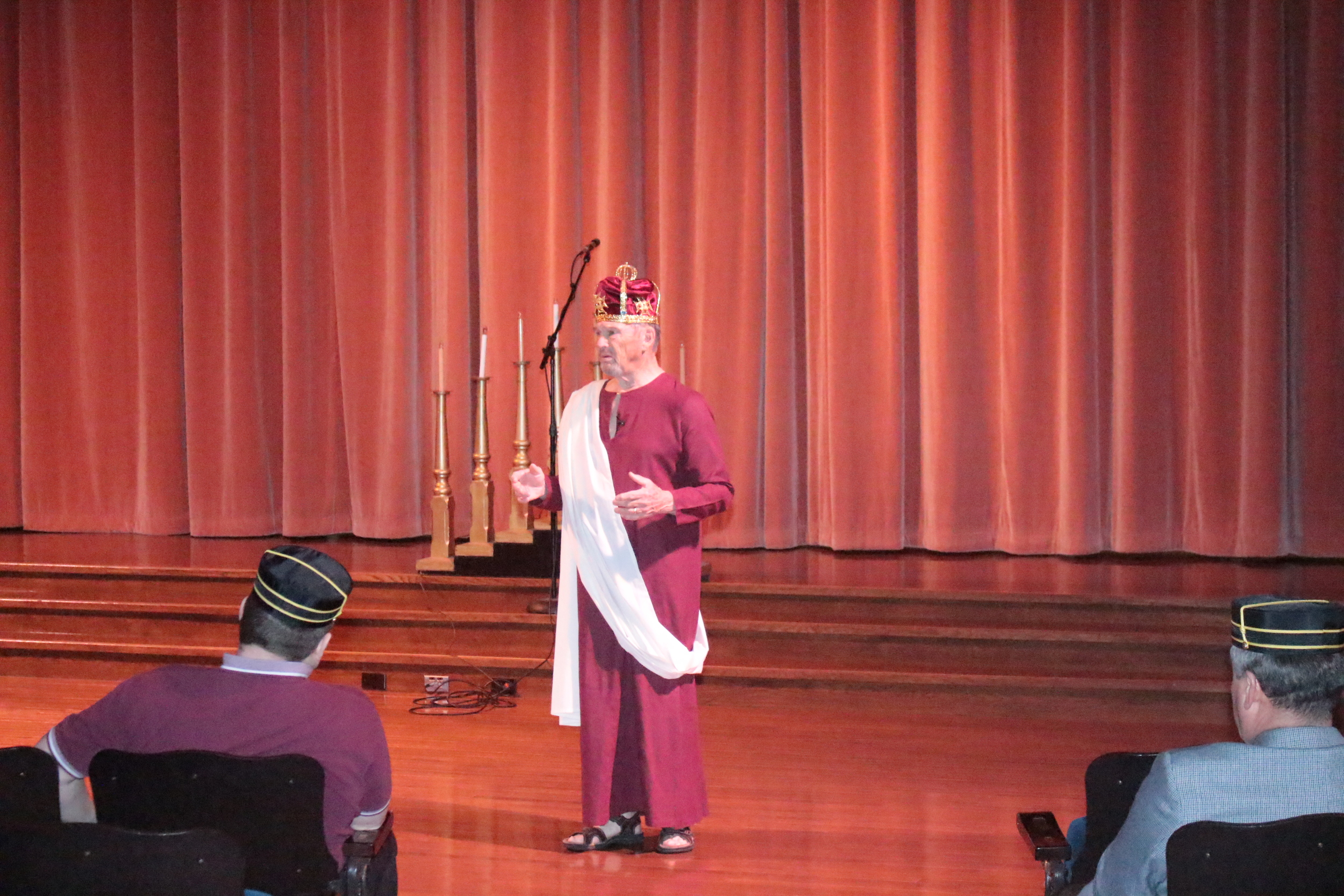 Dick Corwine, 33° as Pontius Pilate at the celebration of Remembrance and Renewal.