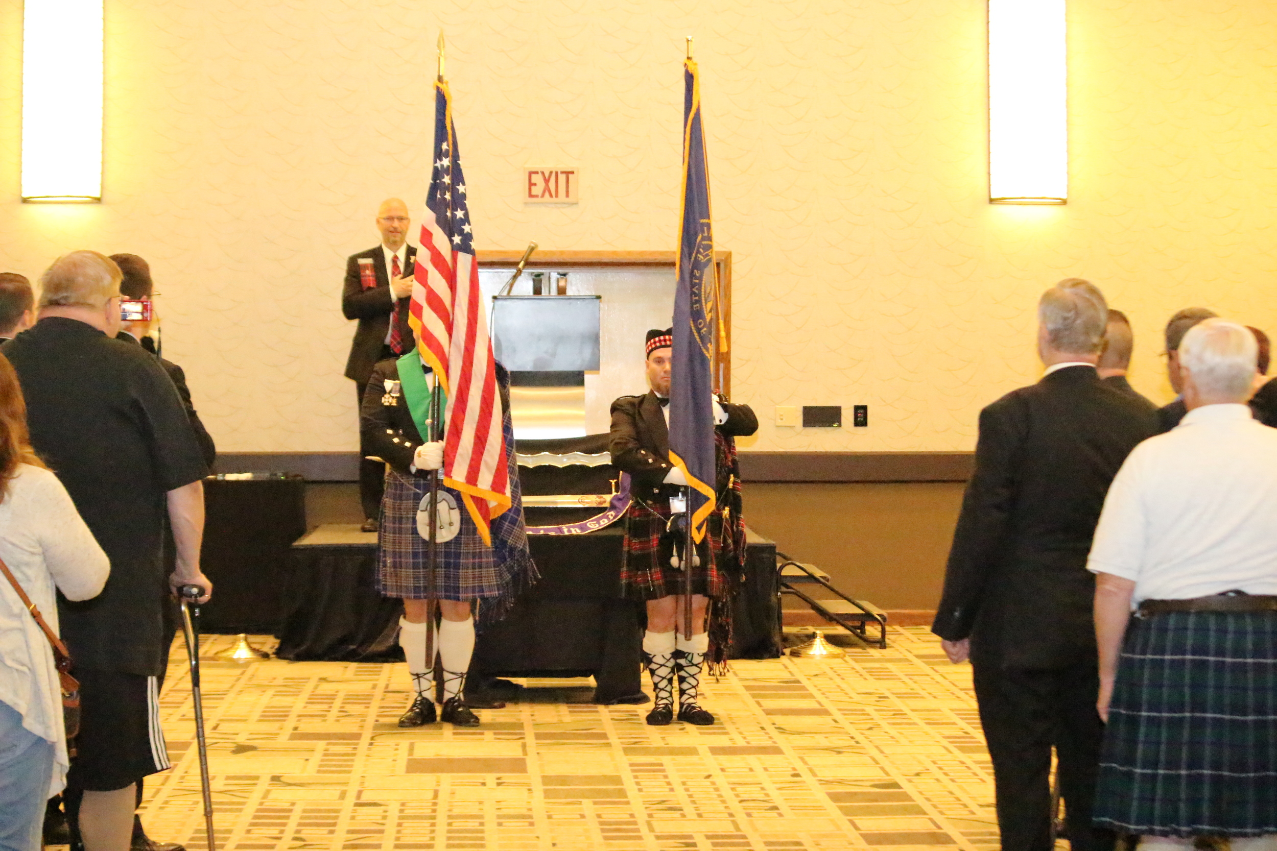 The Maryland Knights present the colors at the opening ceremony on Saturday, May 21.