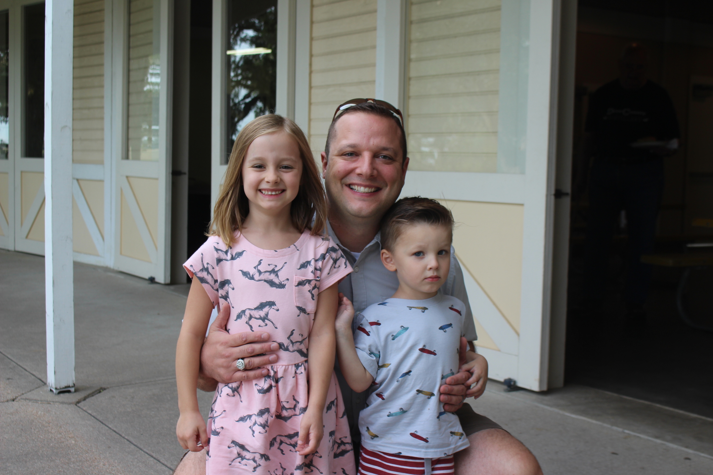 Andrew Muska and his kids
