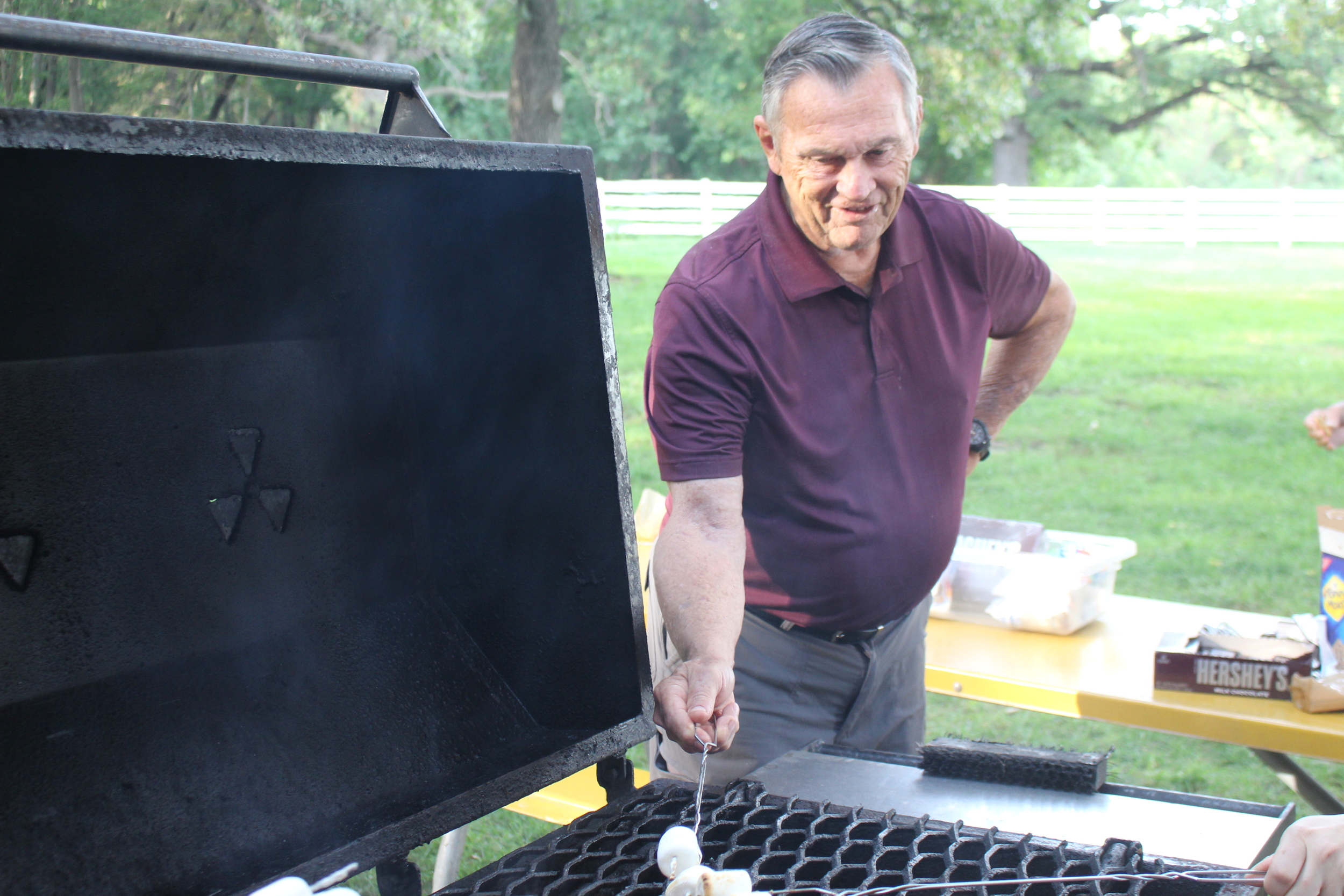Dick Corwine shows us how to make a s'more