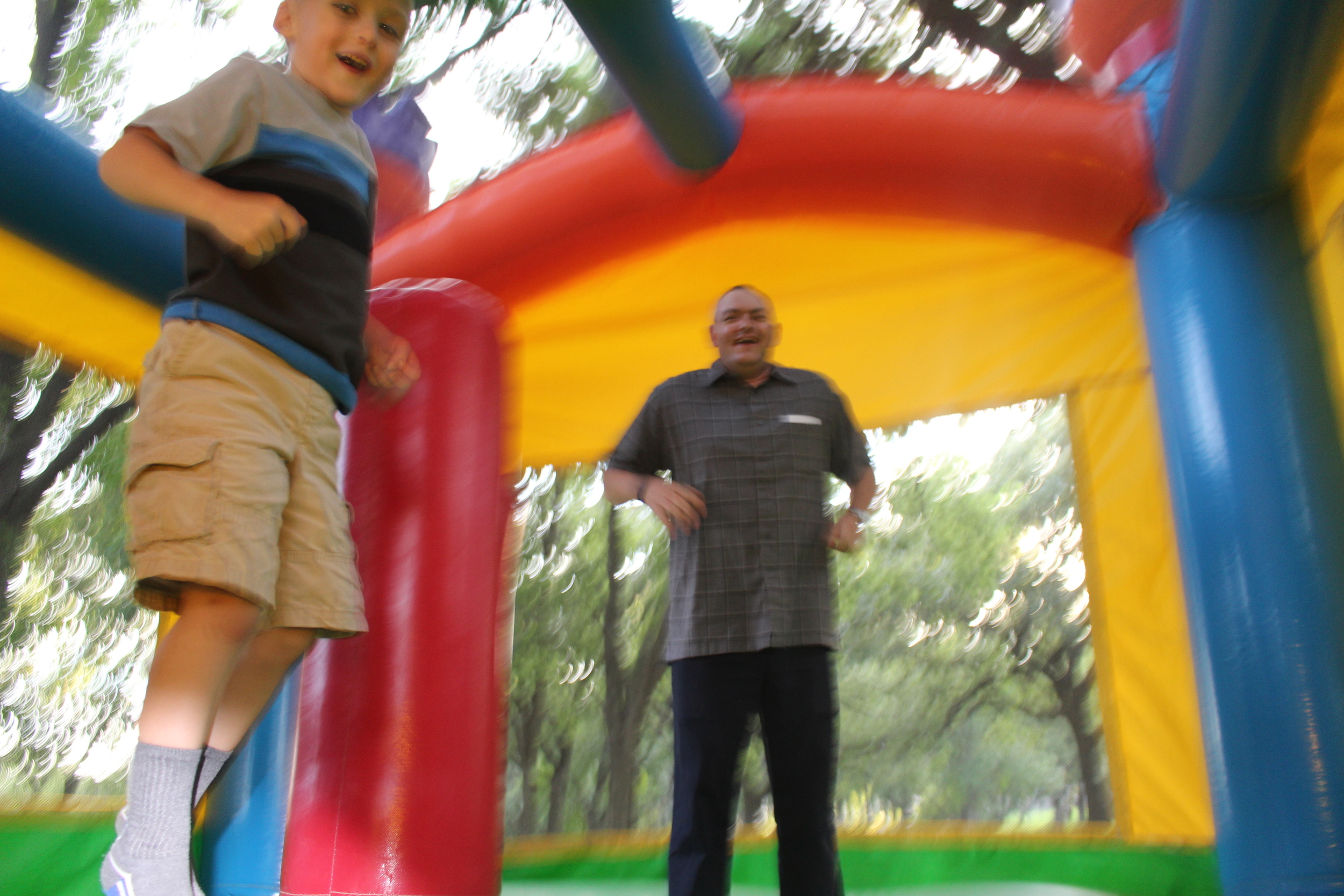 Jeffrey in the Bouncy House