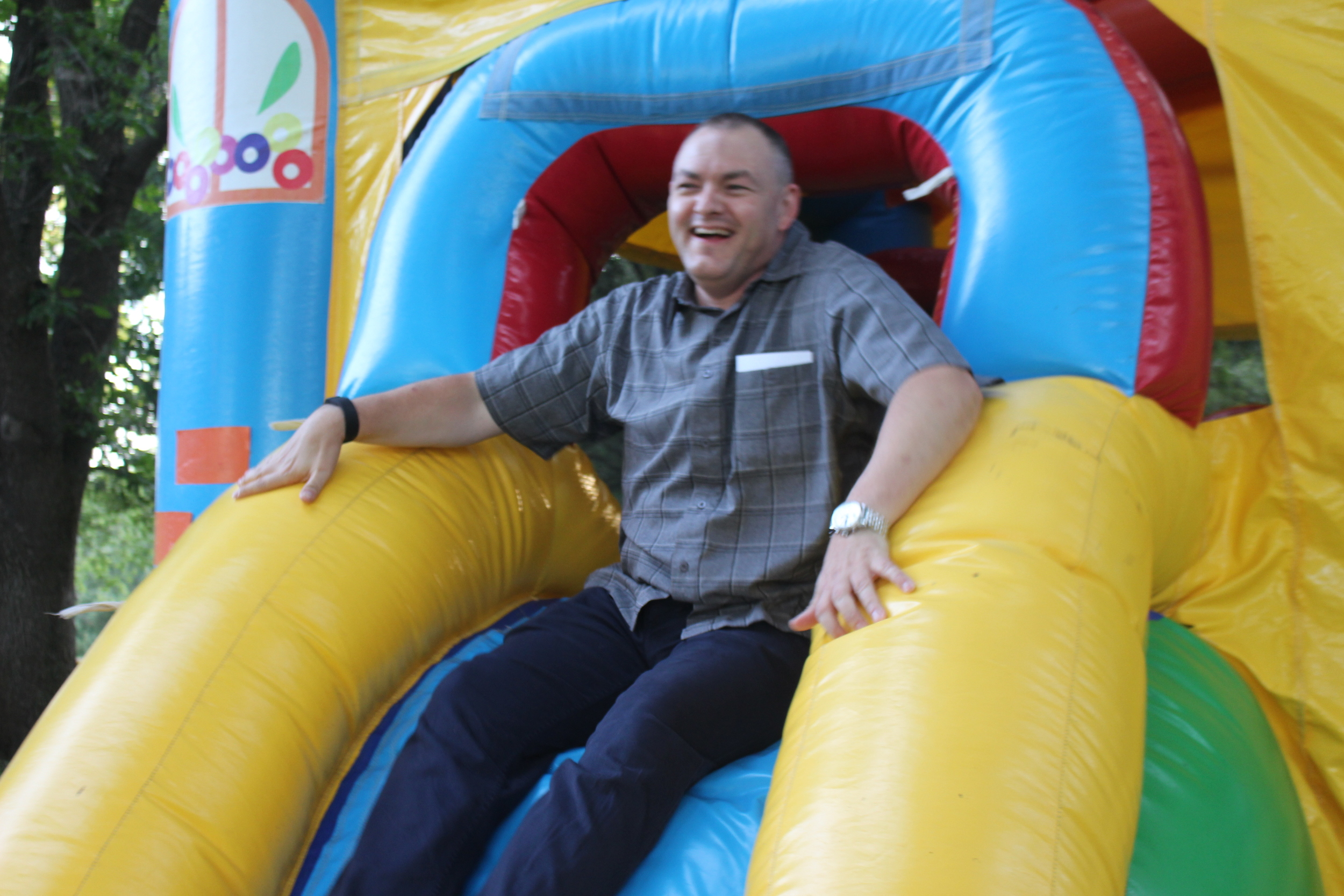Having Fun in the Bouncy House!
