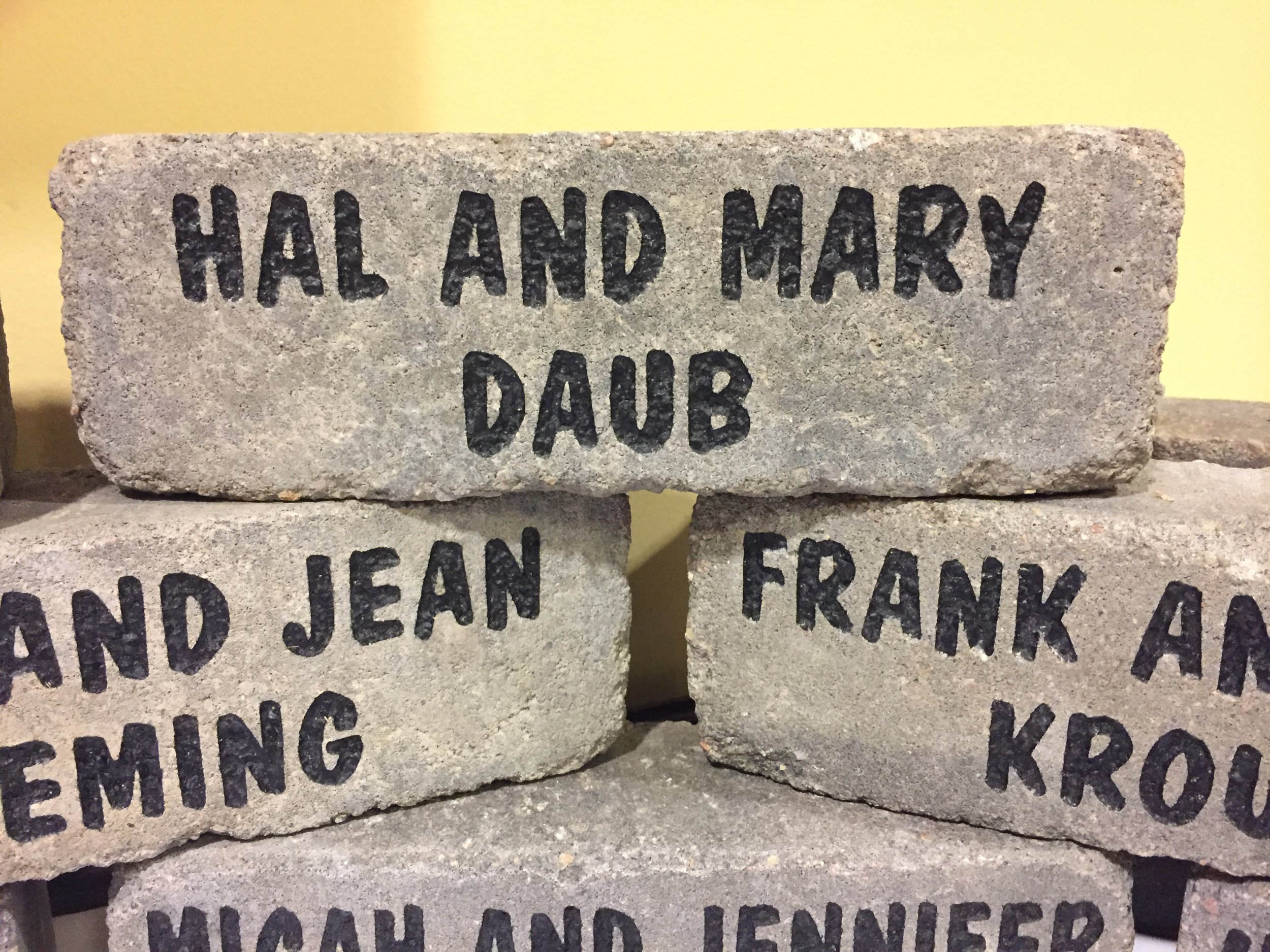 Engraved bricks are the perfect way to both support the Scottish Rite and recognize you or your loved ones.