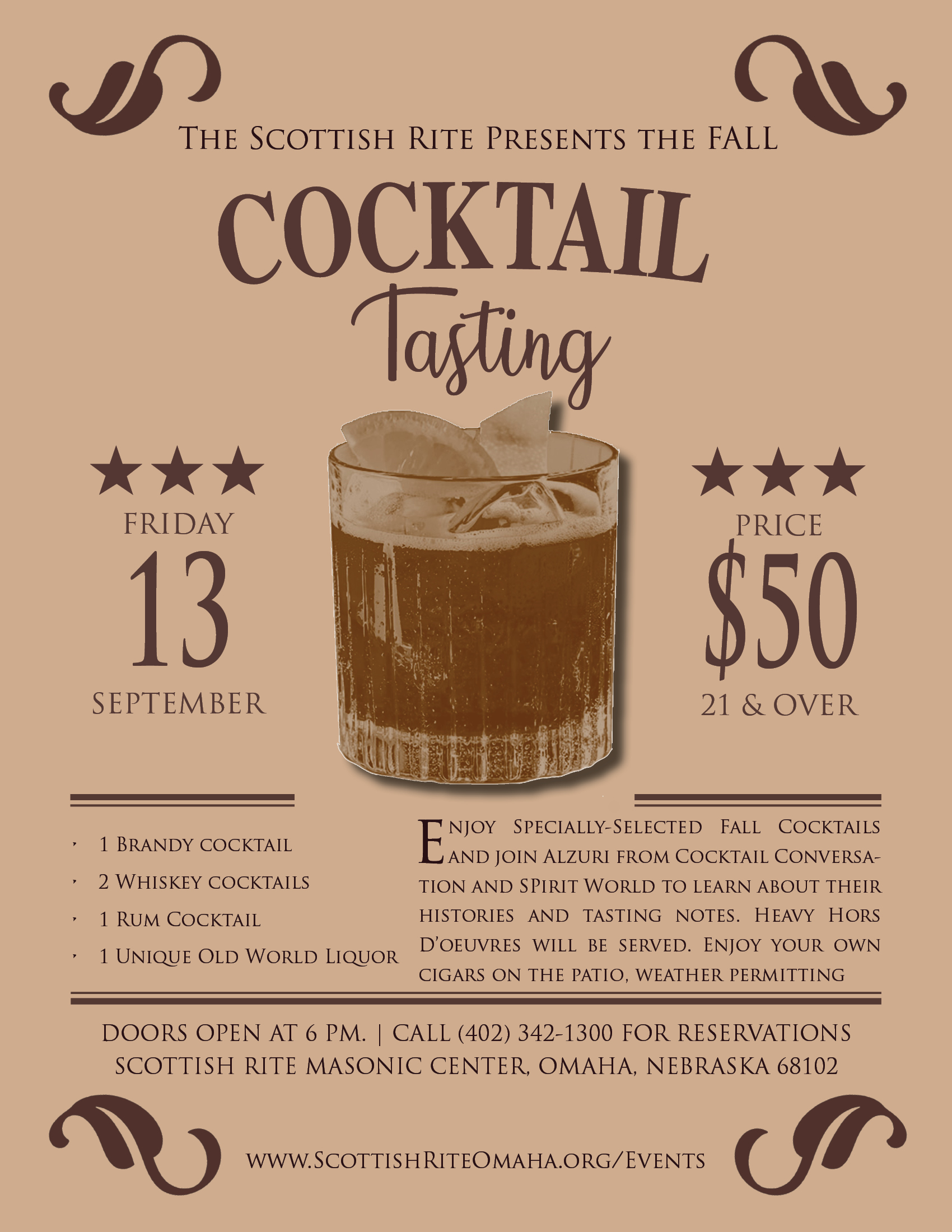 Click image above to download a flier for the Fall Cocktail Tasting