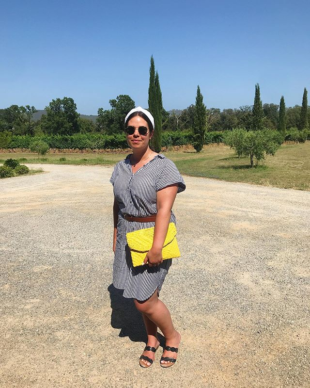 How to handle the summer heat: at a winery, in a headband. 🍷#masoller