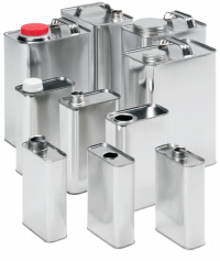 F-Style Metal Containers:   Available in a range of standard capacities with a wide variety of metal nozzle sizes, flanges and fittings. For a multitude of applications.