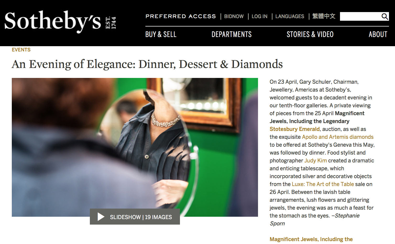 Sotheby's Judy Kim Magnificent Jewels