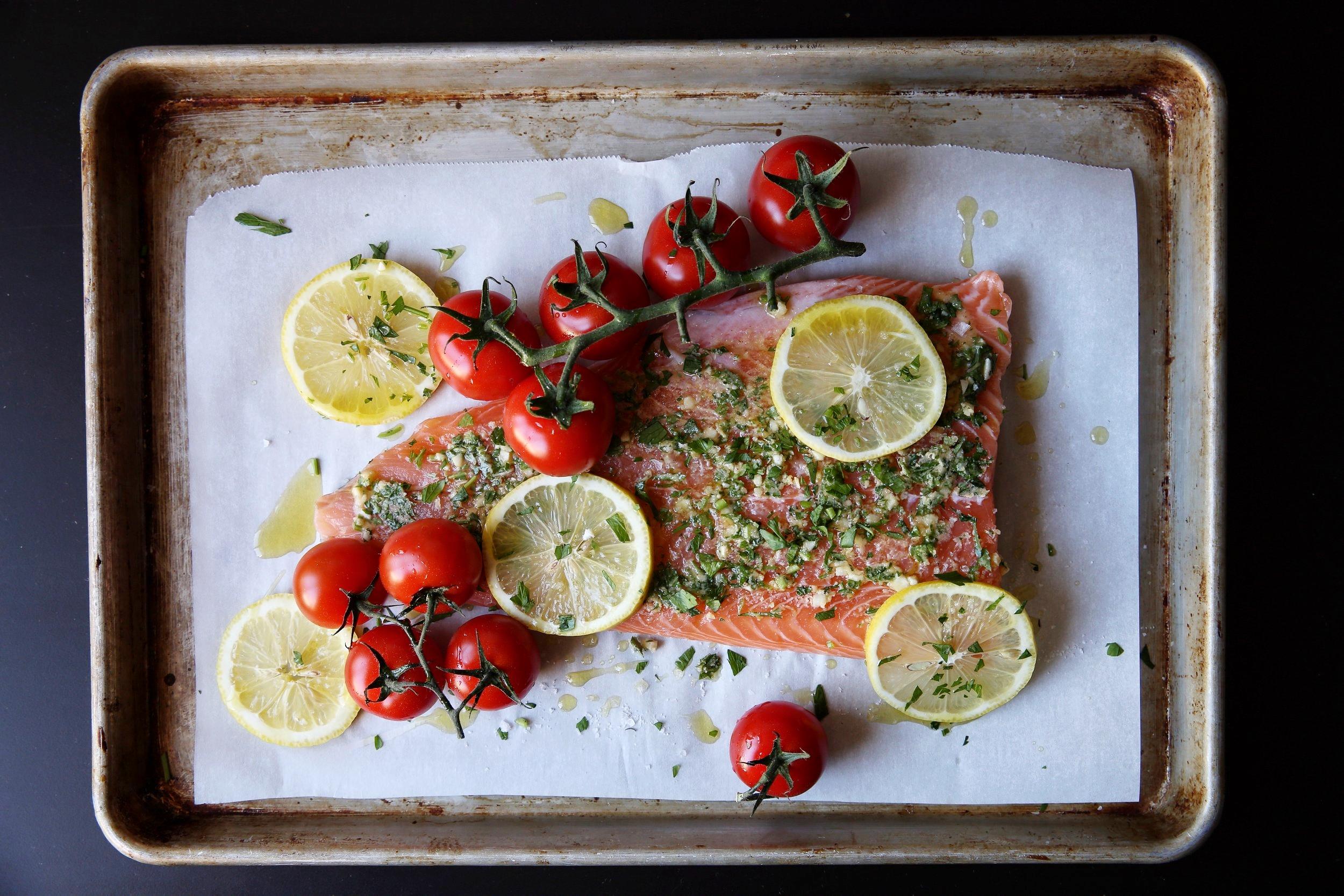 Judy Kim, food stylist, Roasted Salmon