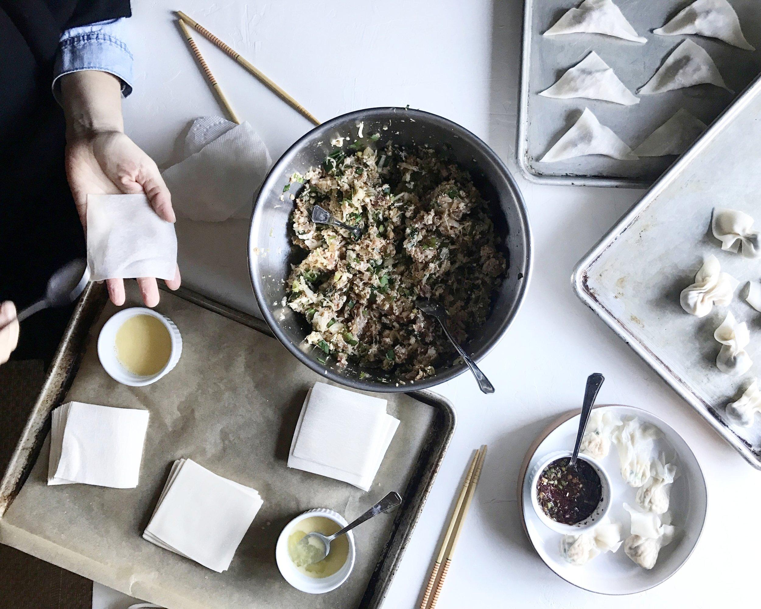 Judy Kim, food stylist, dumplings,  mandoo, korean food