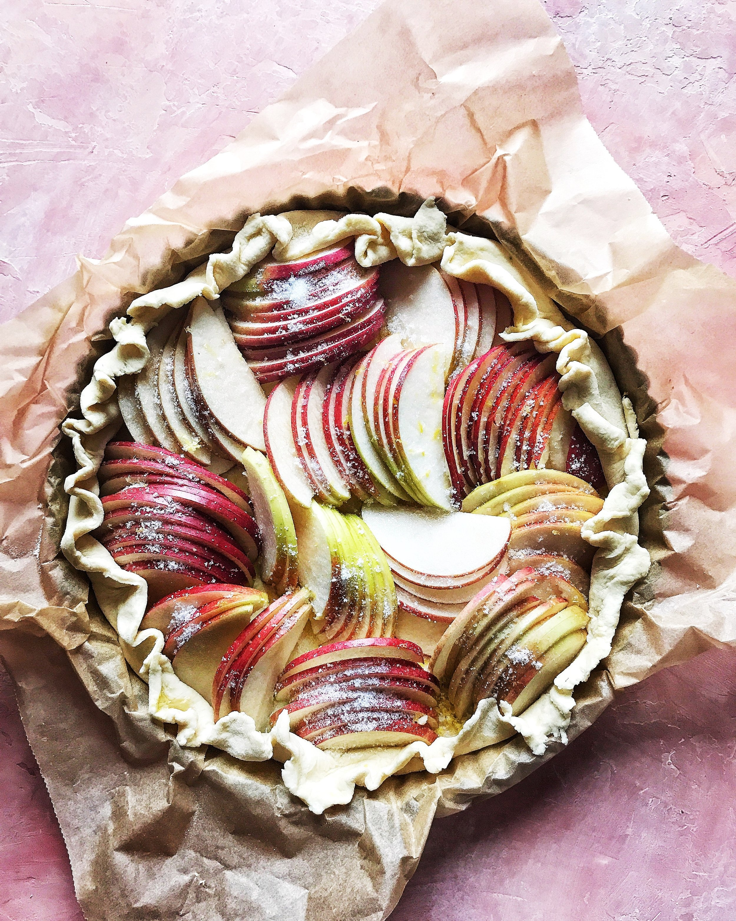 Apple Tart with Ruffled Edges by Judy Kim