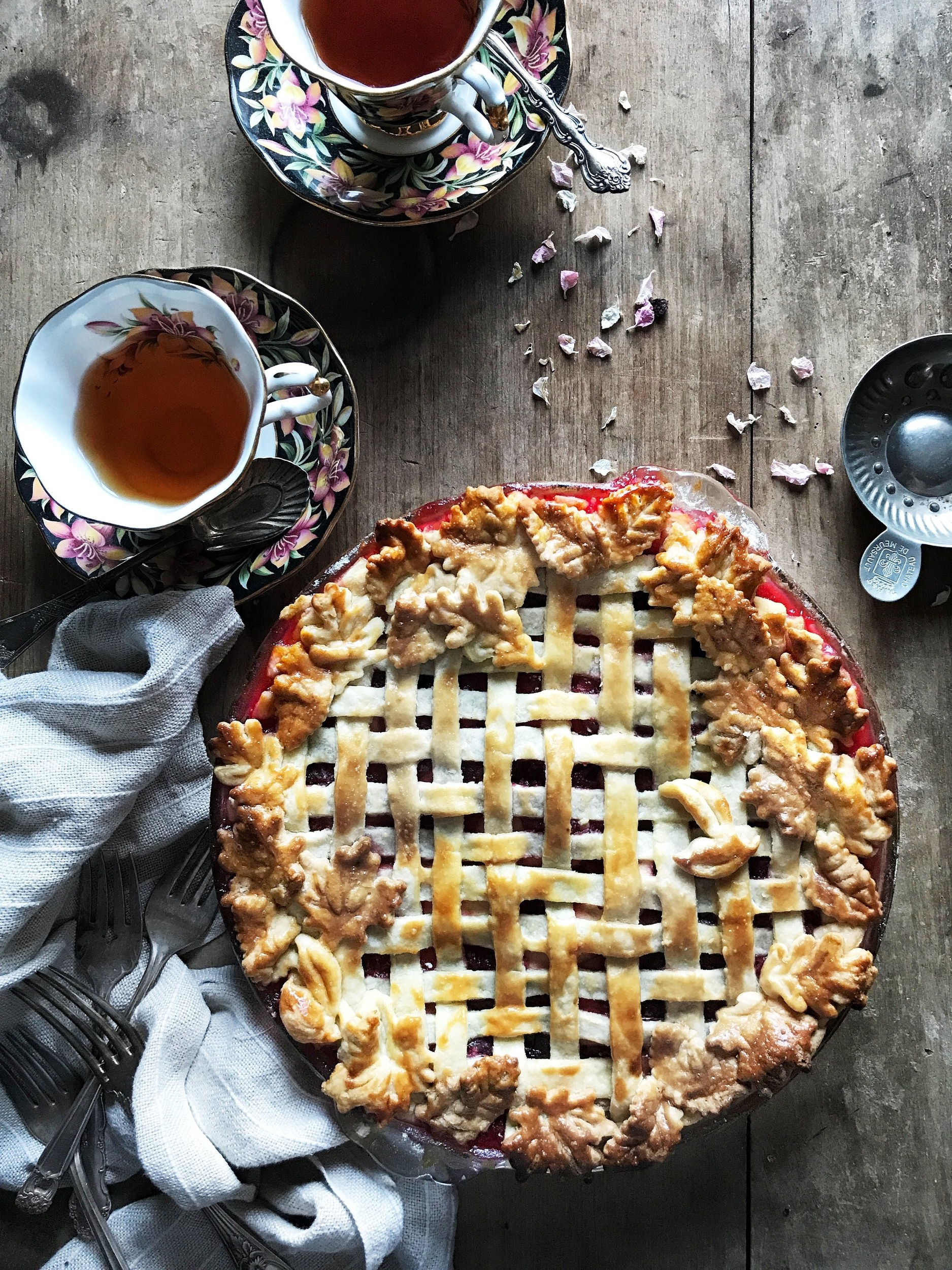 Judy Kim herringbone lattice pie