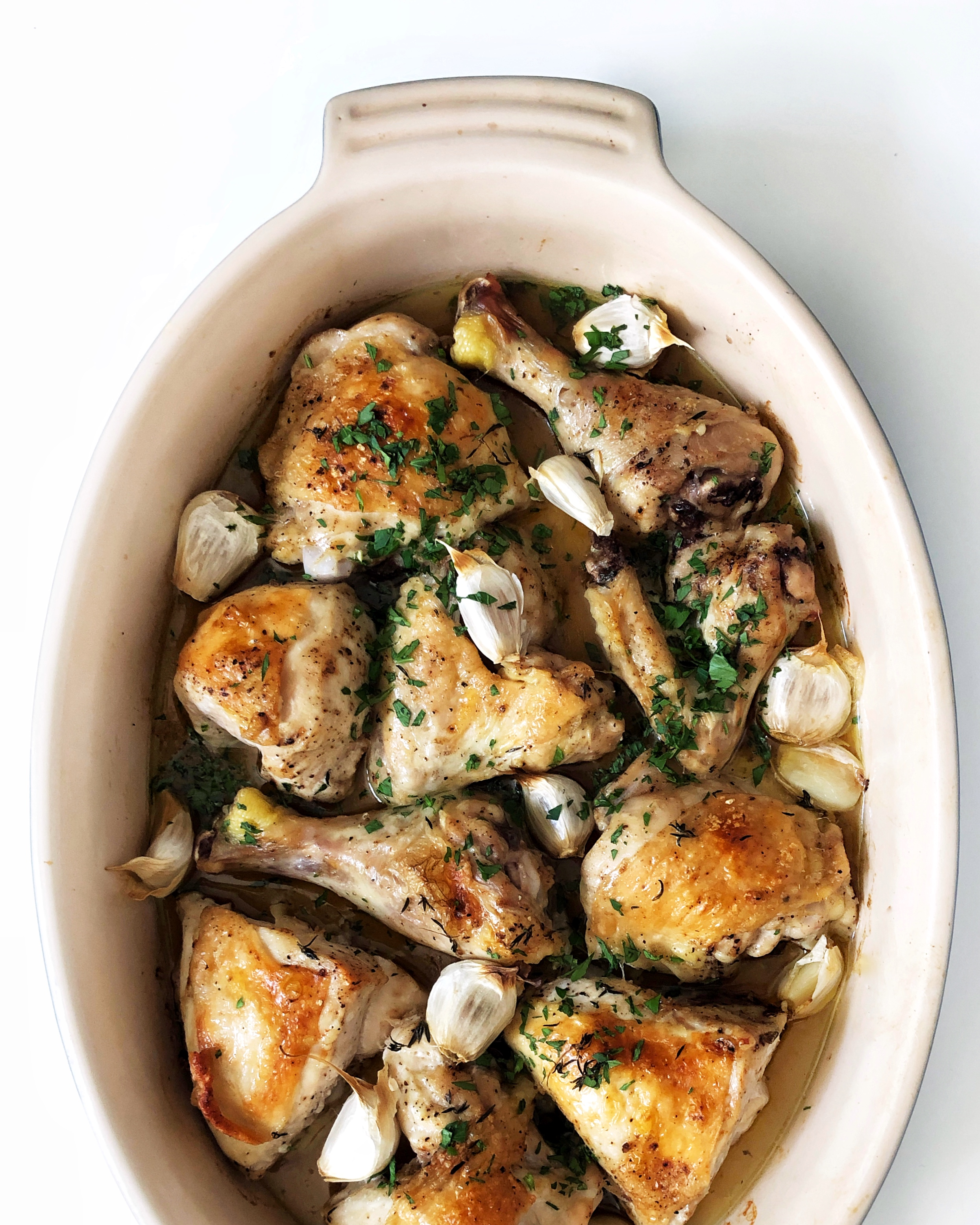 Black Garlic Roast Chicken by Judy Kim