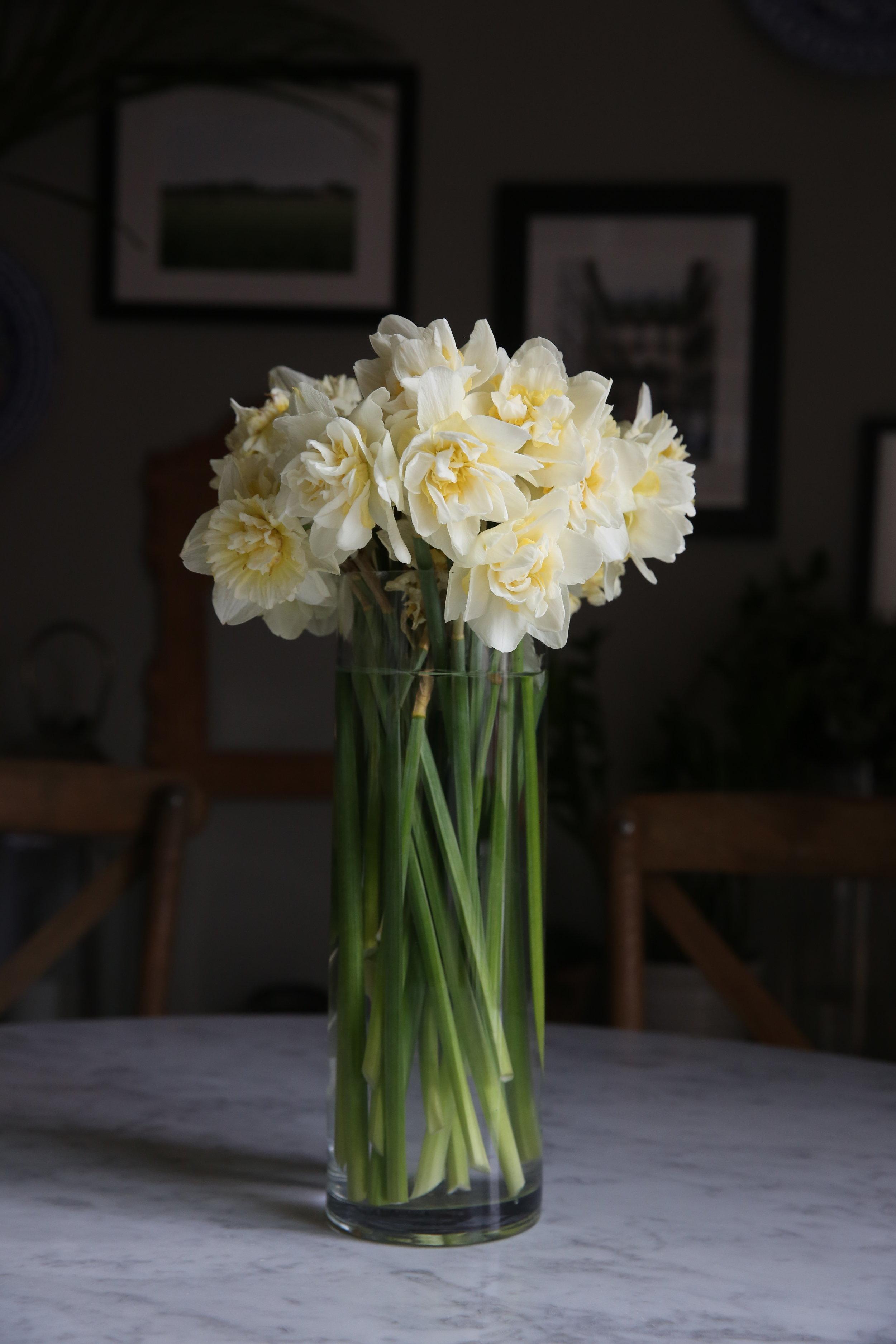 Judy Kim floral design daffodils