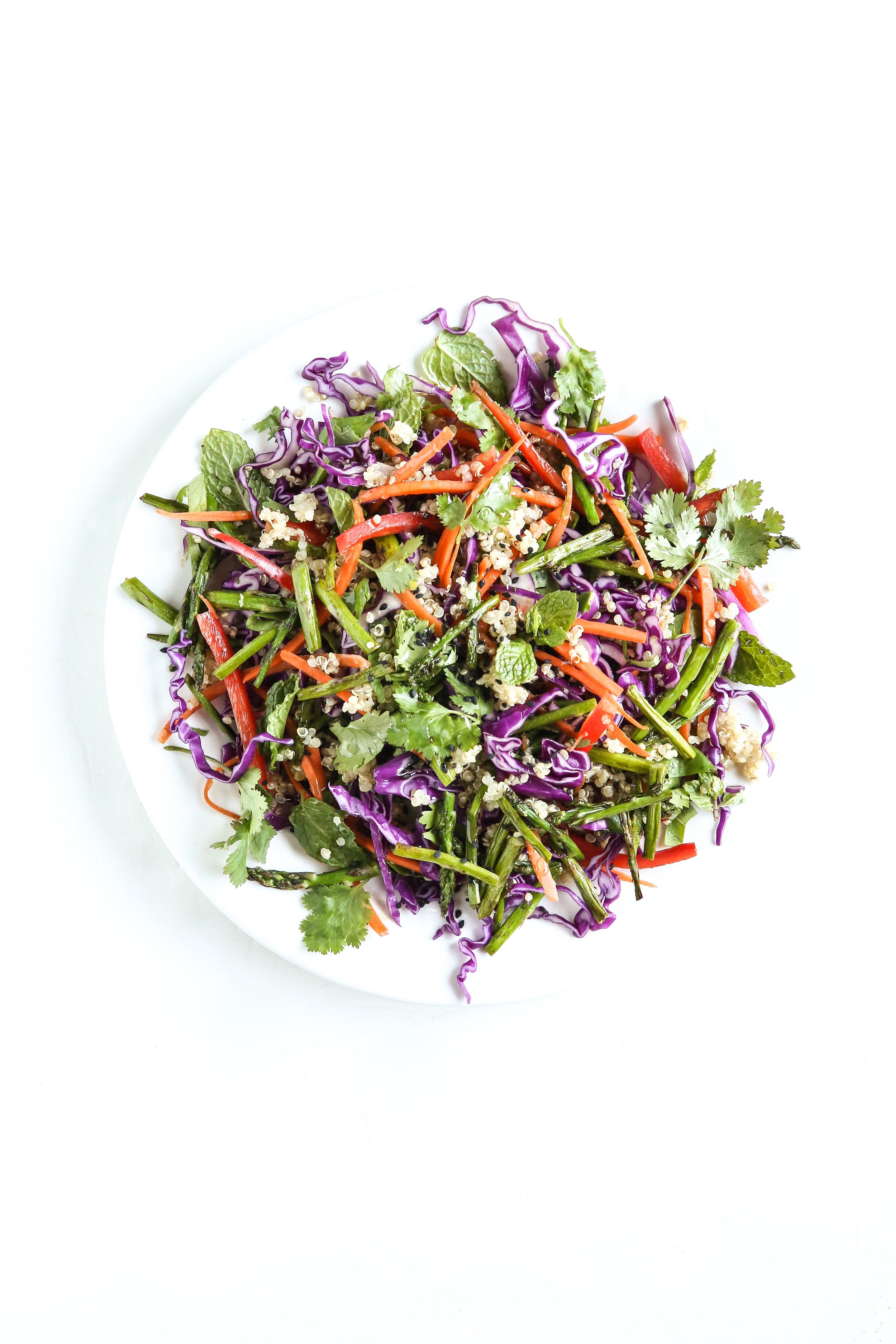 Ginger Garlic Quinoa Salad by Judy Kim