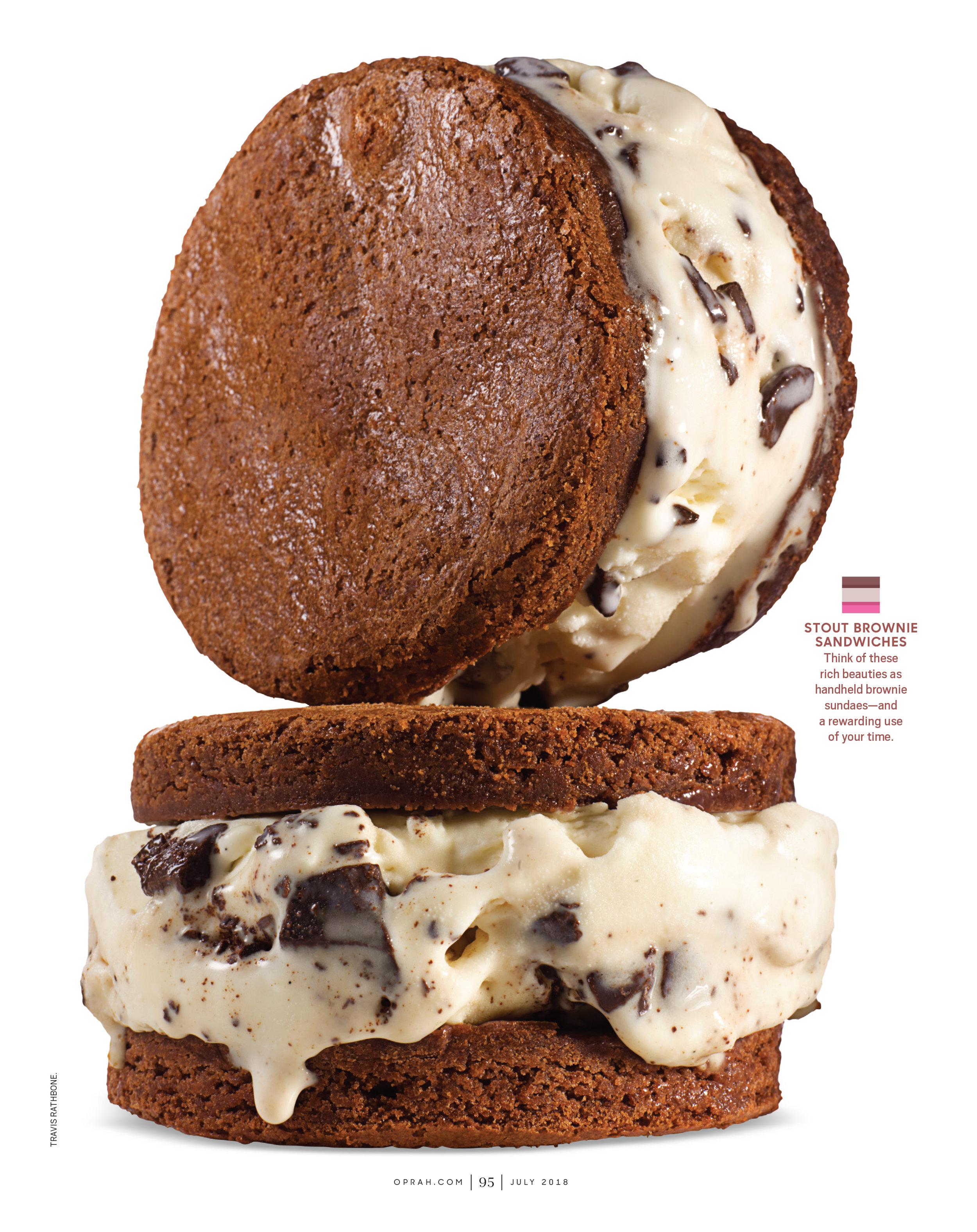 Stout Brownie Ice Cream Sandwiches by Judy Kim