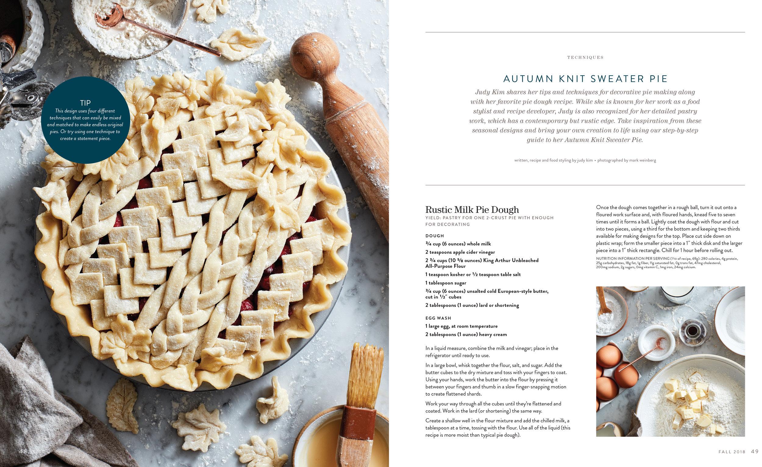 SIFT King Arthur Magazine, Fall 2018. Food Styling/Recipe: Judy Kim Photo by Mark Weinberg