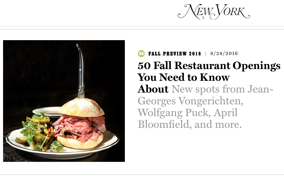 New York Magazine Food Styling: Judy Kim