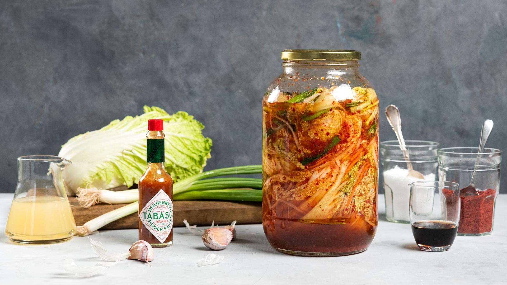 Kimchi - Tabasco- Food Stylist Judy Kim - photo Evan Sung