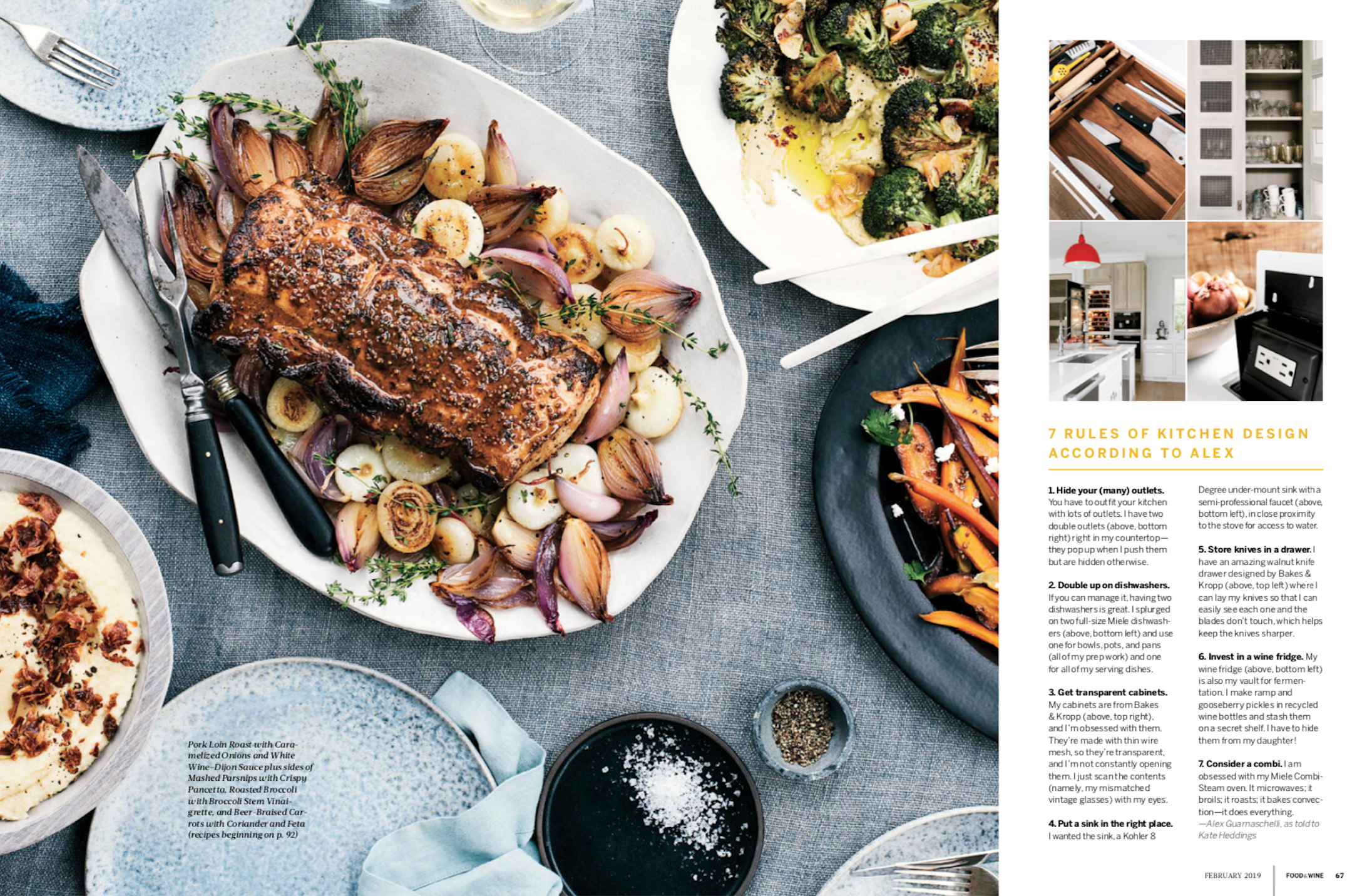 Food & Wine Feb 2019 Alex Guarnaschelli, Food Stylist Judy Kim, Prop Stylist: Sarah Smart, Photo Charissa Fay