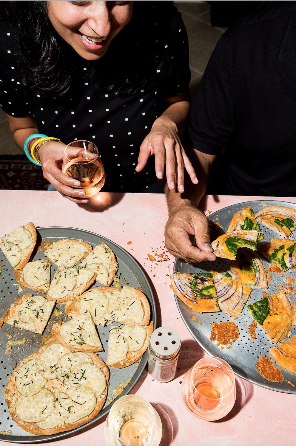 INDIANISH Cookbook Roti Pizza, Author Priya Krishna, Photographer Mackenzie Smith Kelley, Food Stylist Judy Kim